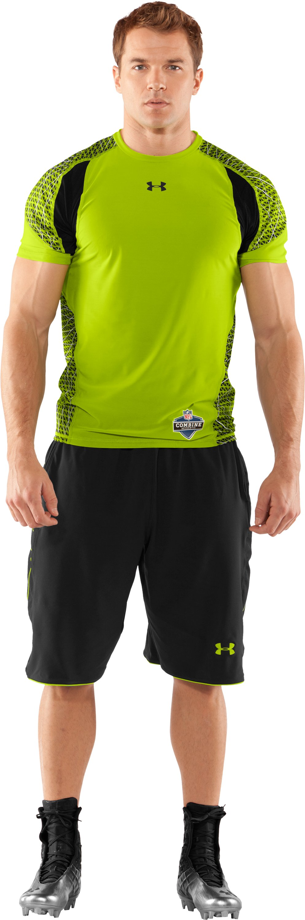 Men's NFL Combine Authentic Warp Speed Fitted Short Sleeve, Velocity, Front