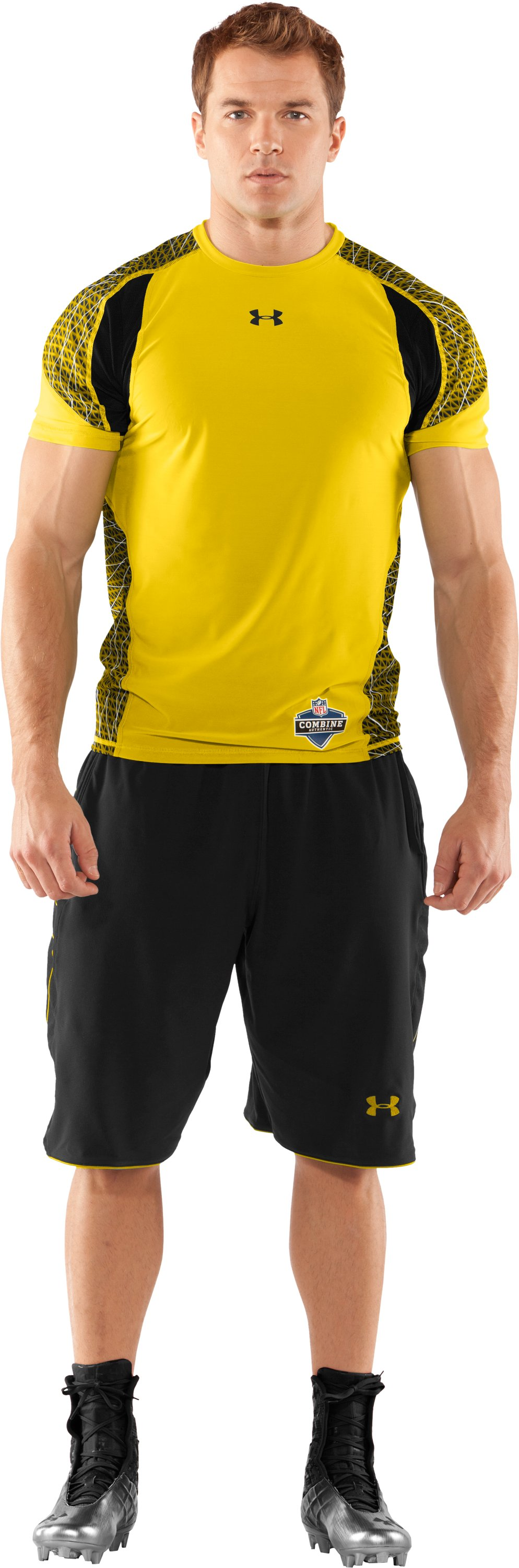 Men's NFL Combine Authentic Warp Speed Fitted Short Sleeve, Taxi