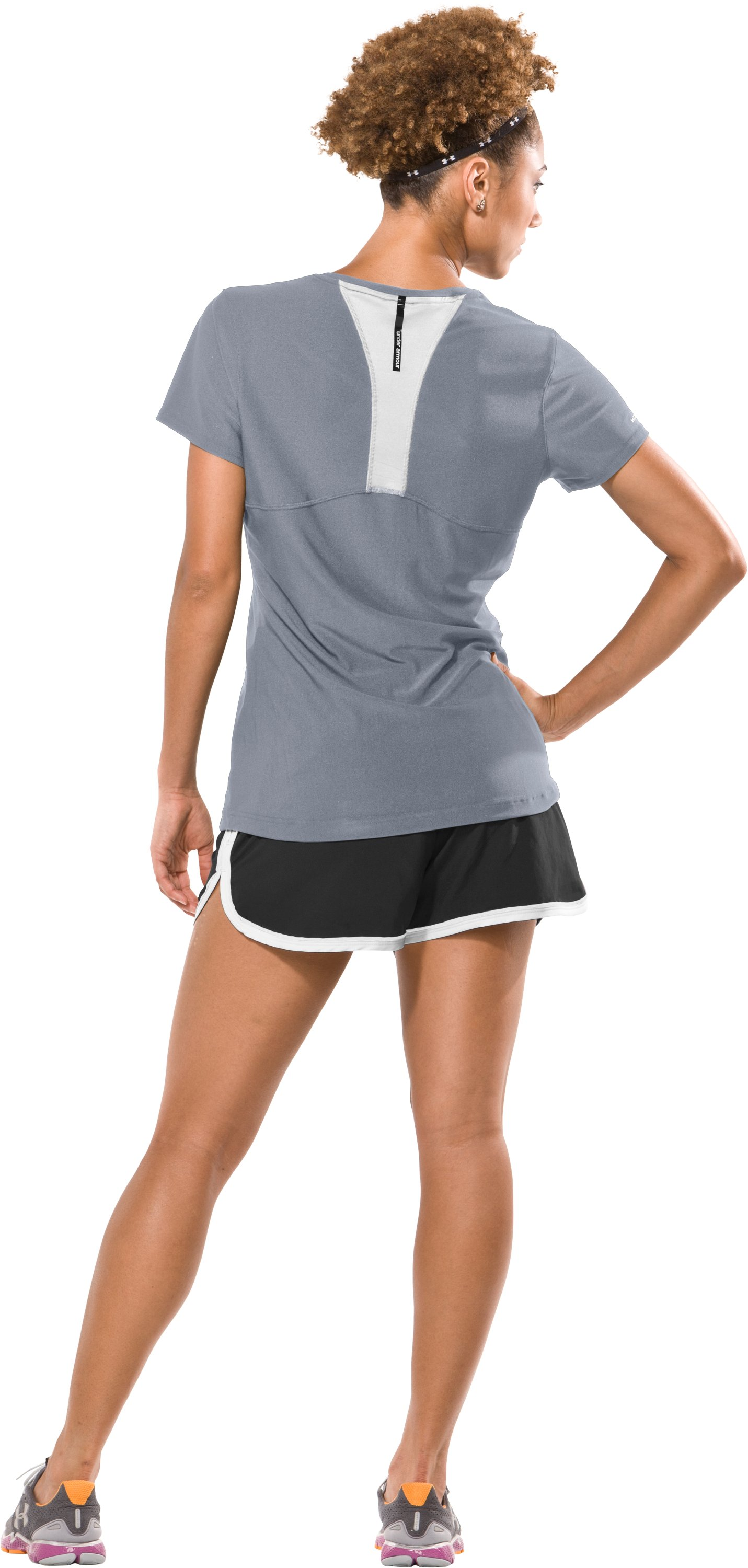 Women's coldblack® Training T-Shirt, Steel, Back