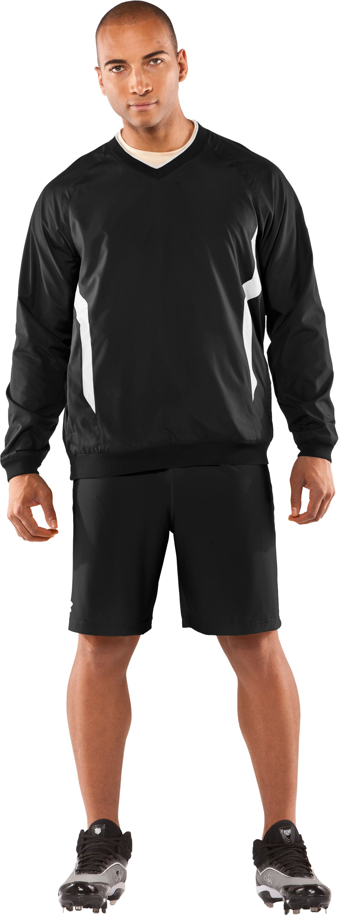 Men's Gamer V-Neck AllSeasonGear® Jacket, Black , Front