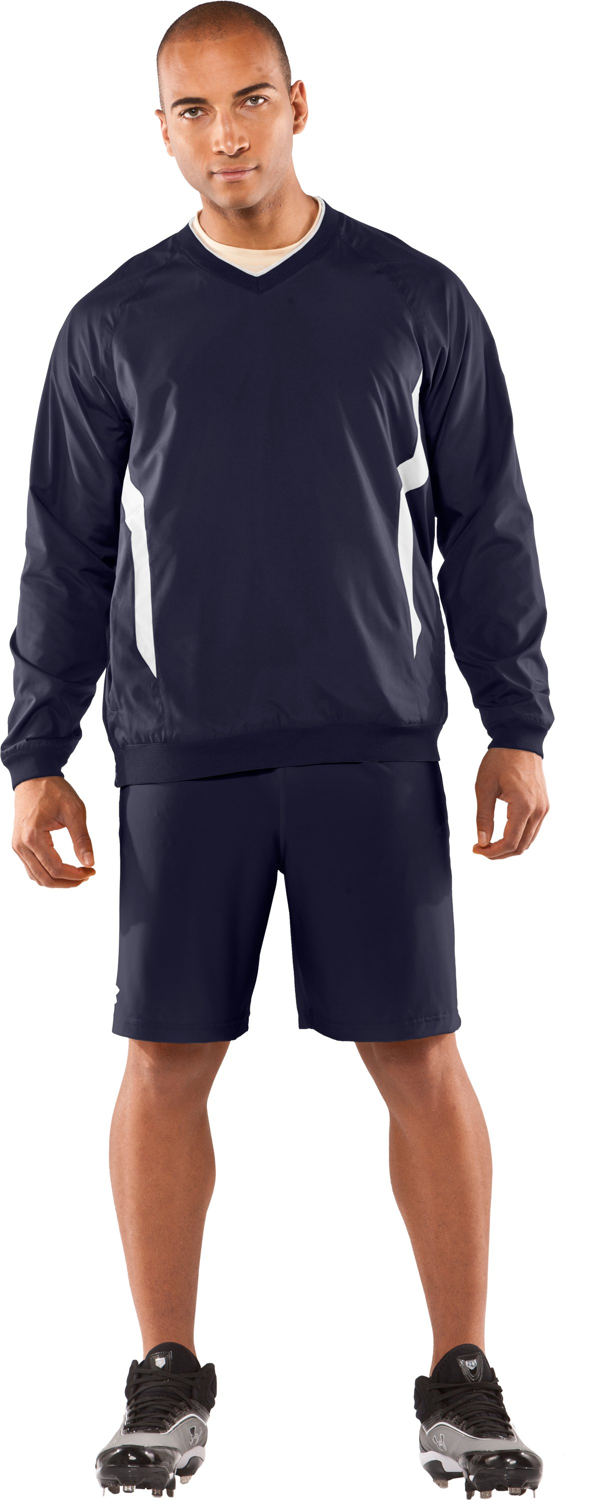 Men's Gamer V-Neck AllSeasonGear® Jacket, Midnight Navy, Front