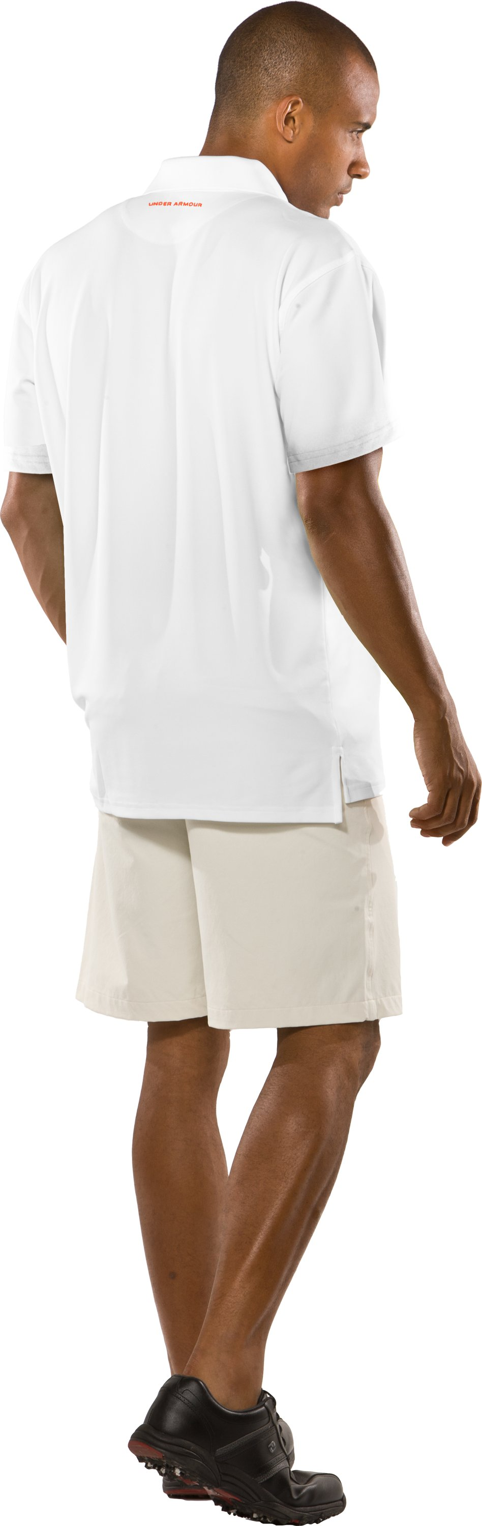 Men's Performance Graphic Polo, White, Back