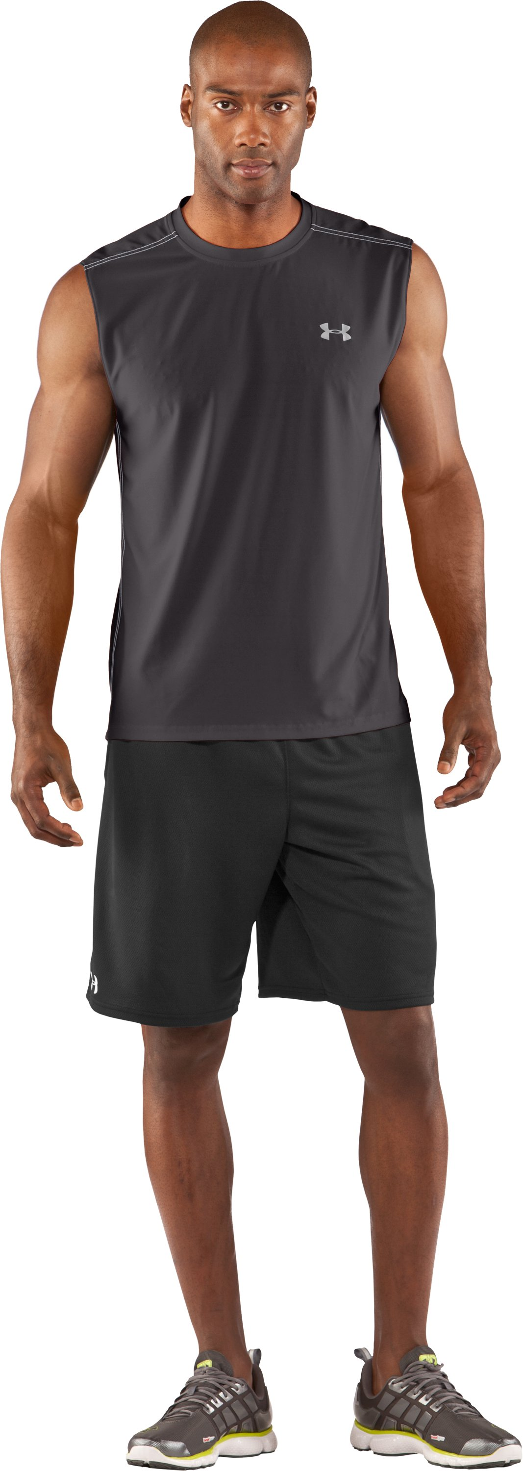 Men's coldblack® Sleeveless T-Shirt, Charcoal, Front