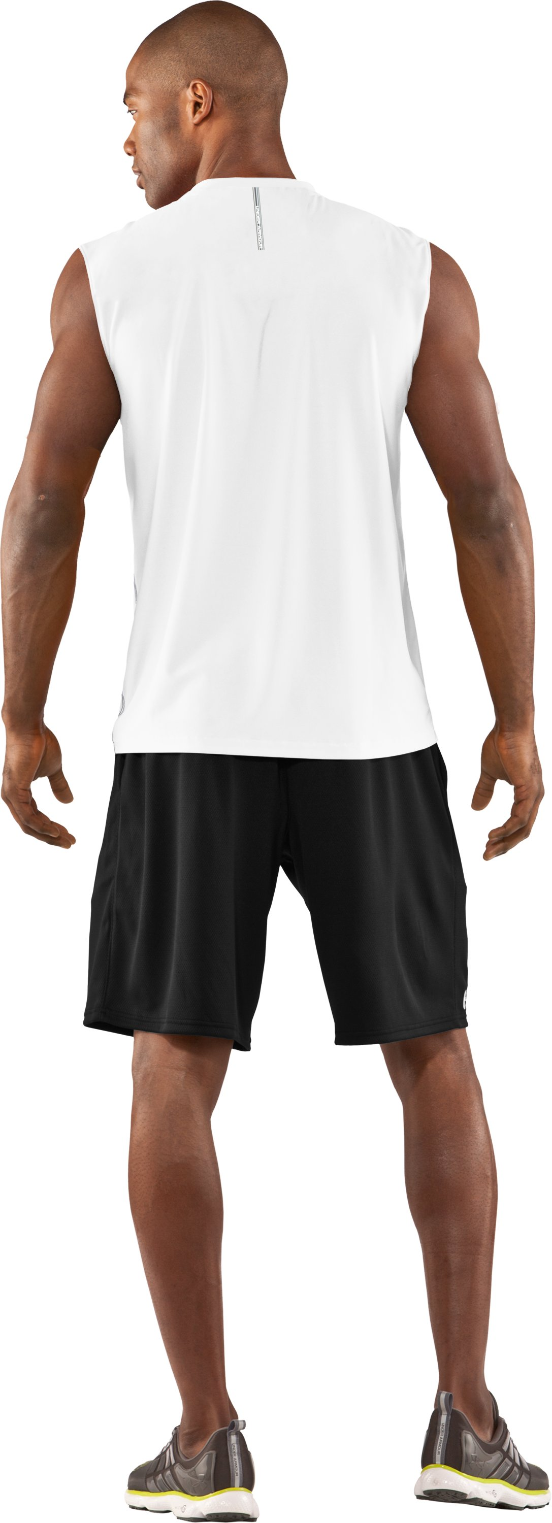 Men's coldblack® Sleeveless T-Shirt, White, Back