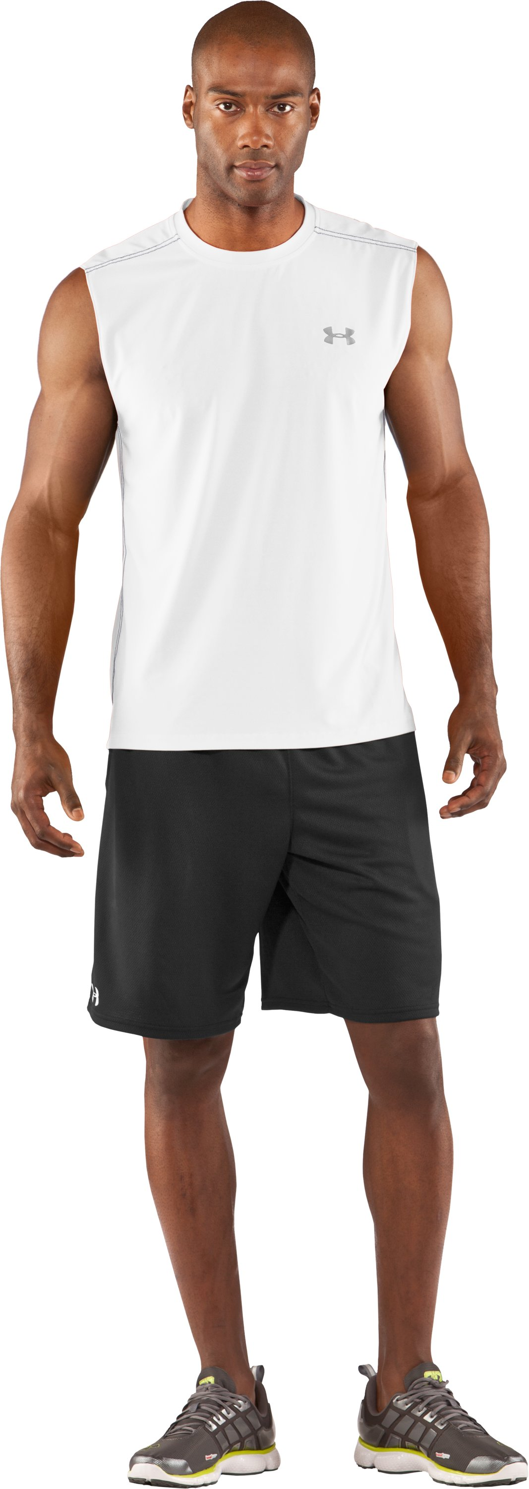 Men's coldblack® Sleeveless T-Shirt, White, Front