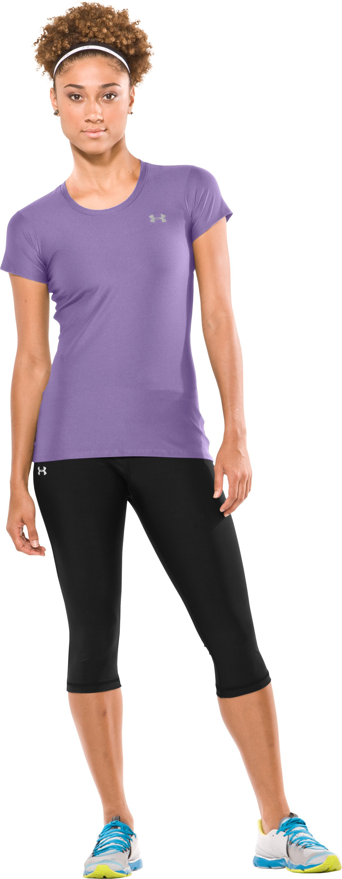 Women's Fitted HeatGear® Short Sleeve T-Shirt, Celebrate