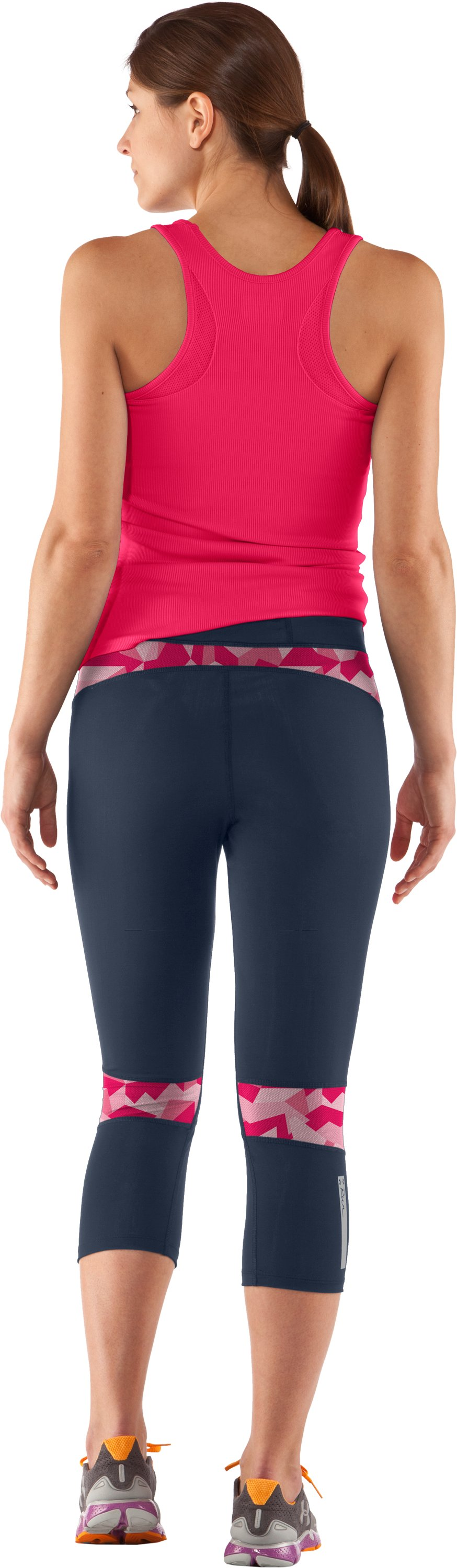 Women's UA Tough Run Capri, Wire, Back