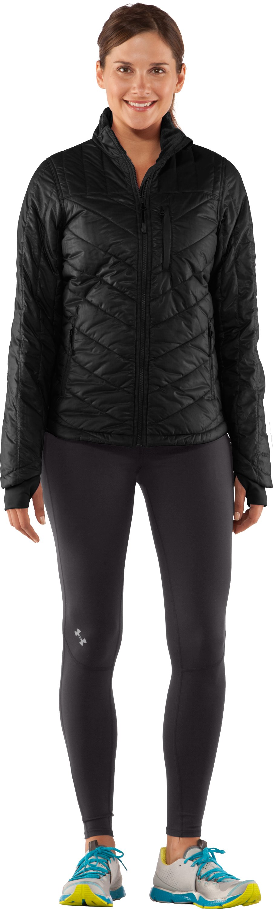 Women's UA Storm Rivalry Jacket, Black , zoomed image