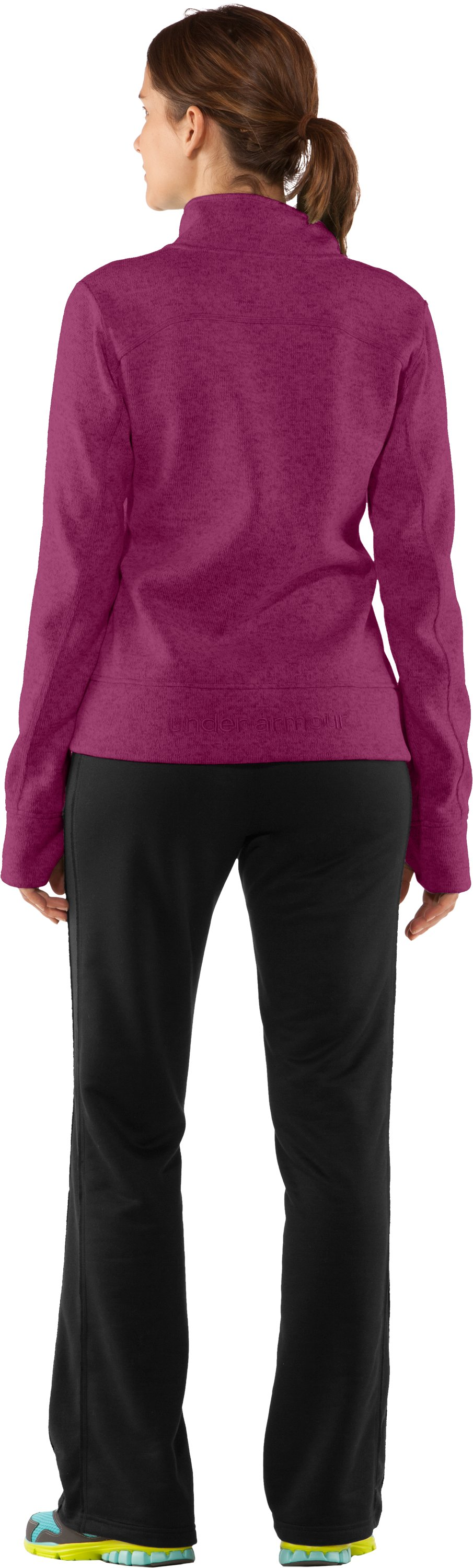 Women's UA Storm Rally Jacket, Rosewood, Back