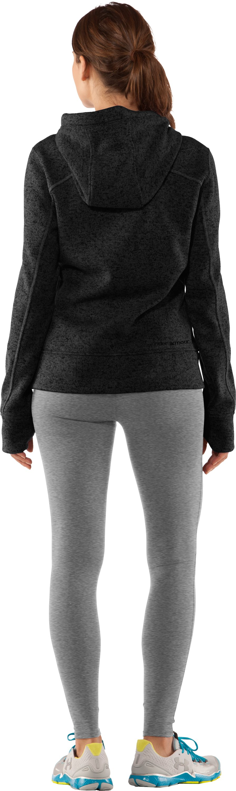 Women's UA Storm Rally Hoodie, Black , Back