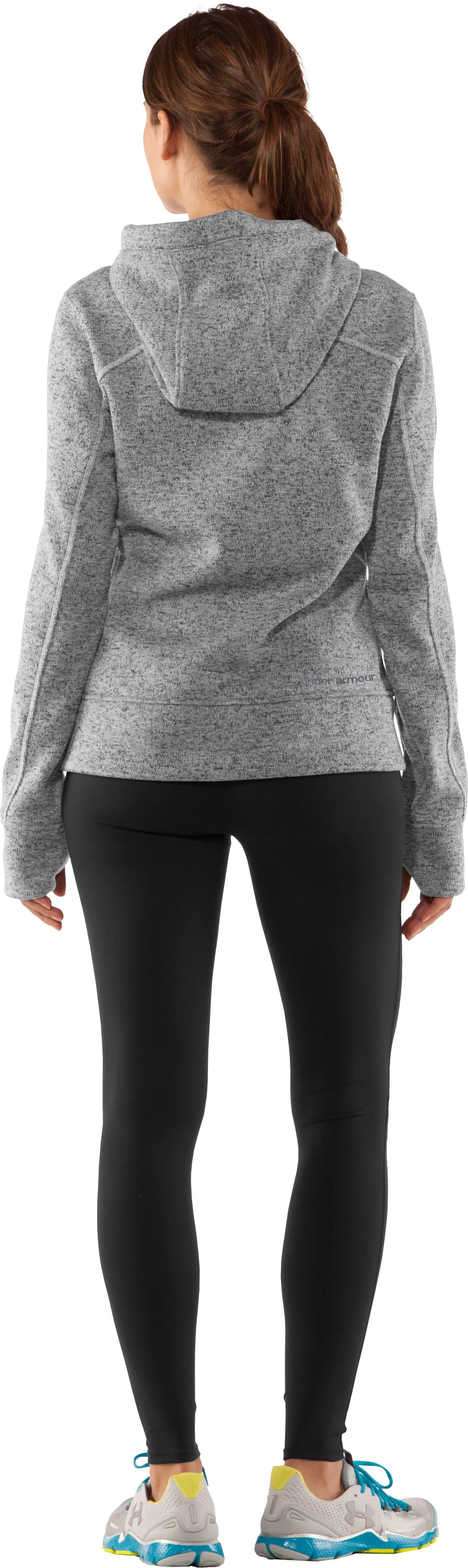 Women's UA Storm Rally Hoodie, True Gray Heather, Back