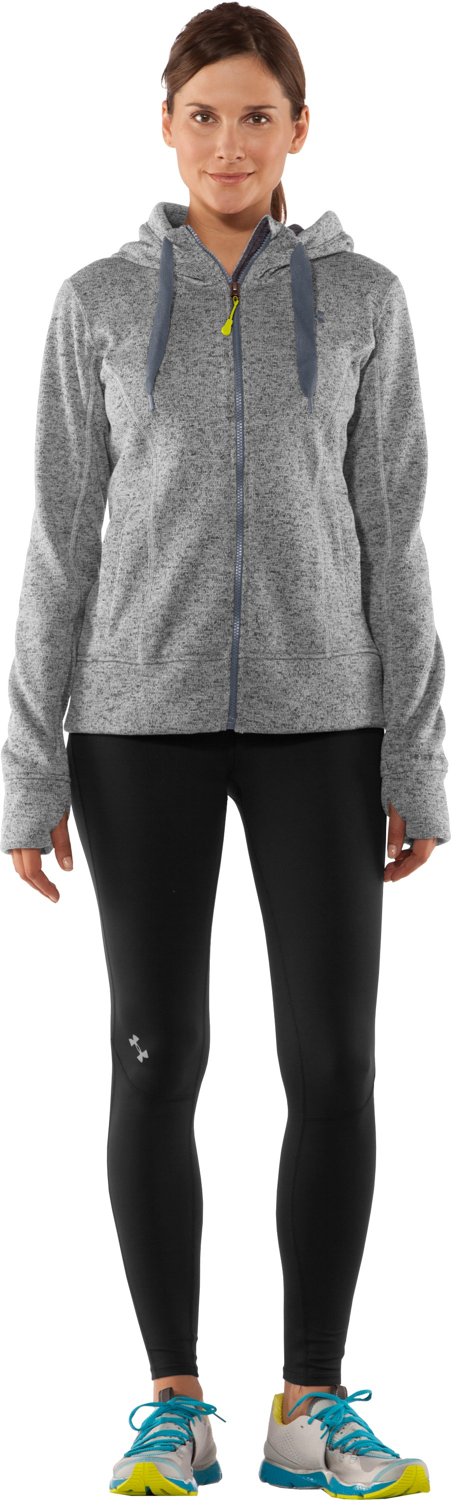 Women's UA Storm Rally Hoodie, True Gray Heather, Front