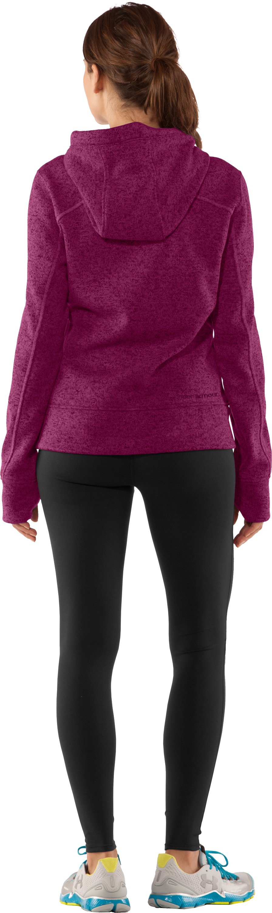 Women's UA Storm Rally Hoodie, Rosewood, Back