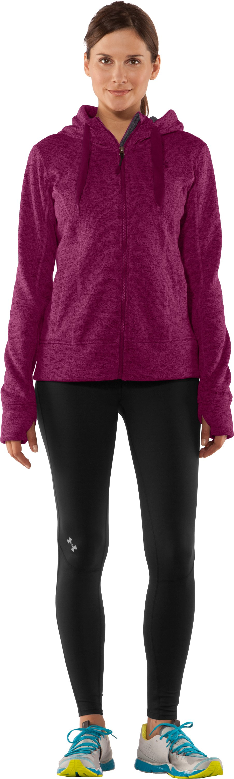 Women's UA Storm Rally Hoodie, Rosewood, Front