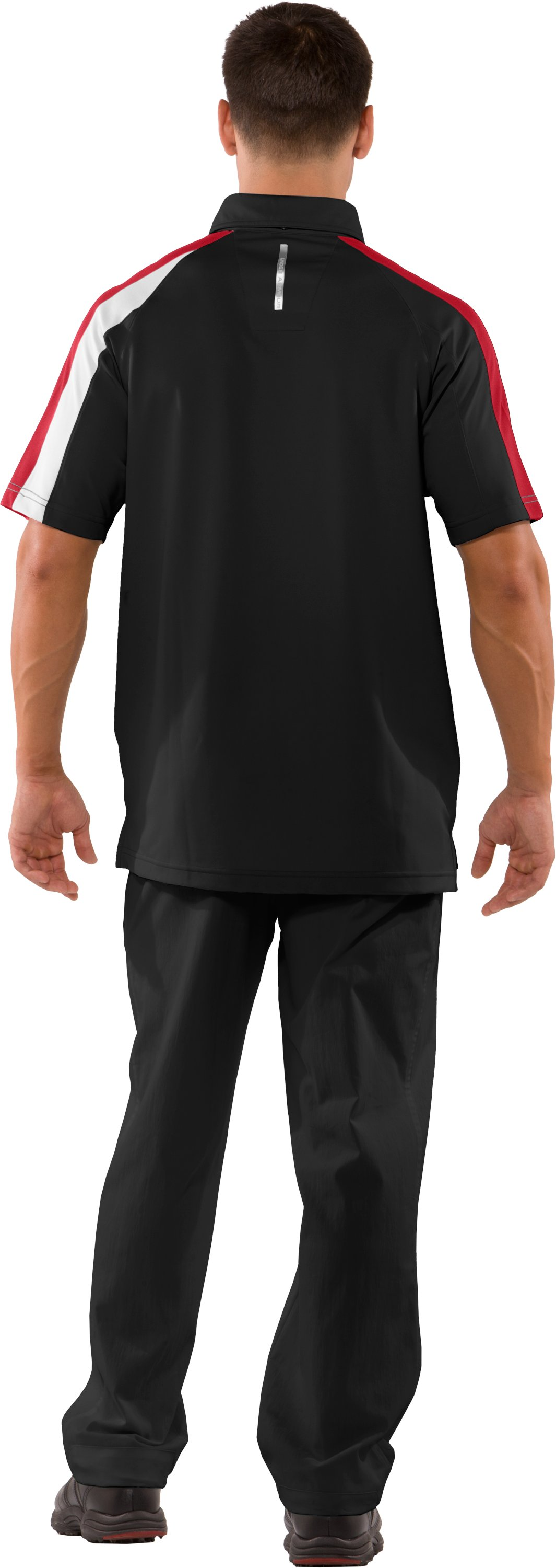 Men's coldblack® Colorblock Polo, Black , Back