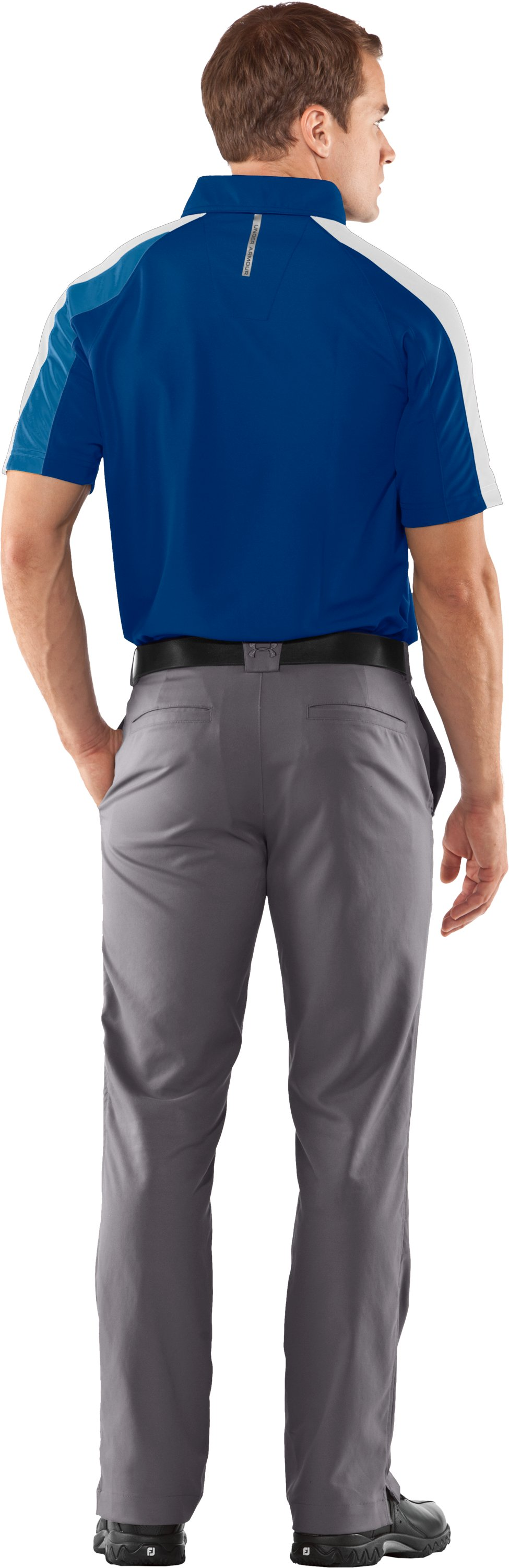 Men's coldblack® Colorblock Polo, EMPIRE BLUE, Back