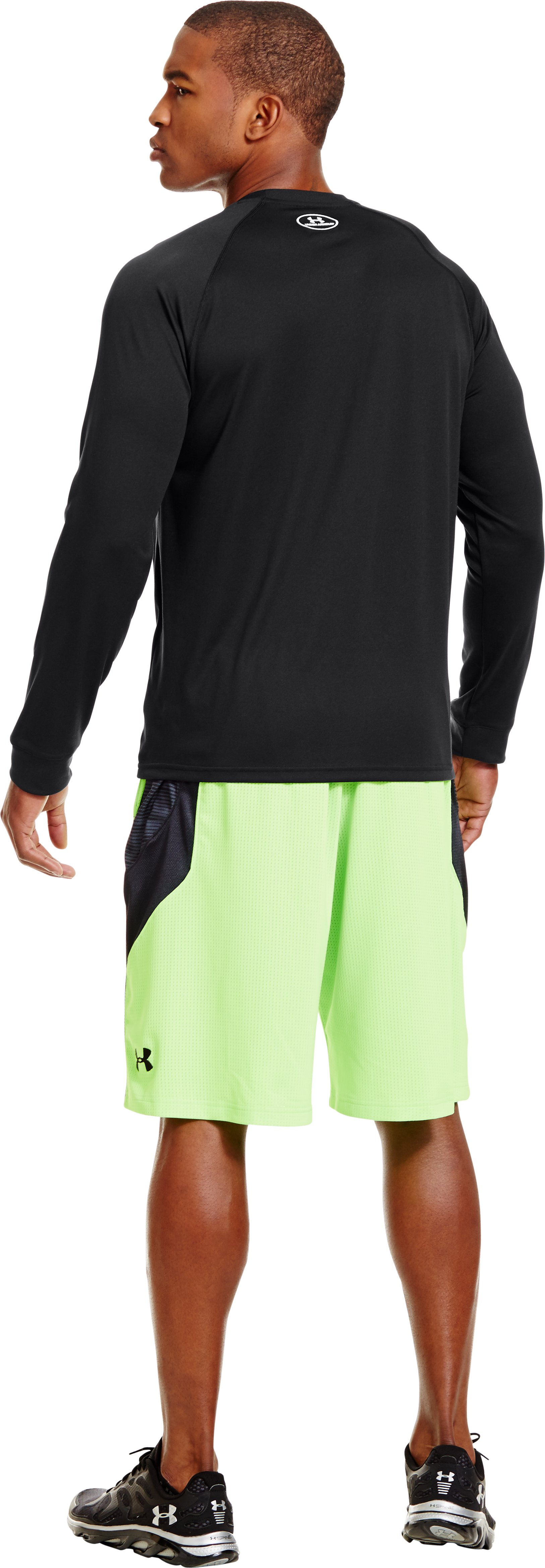 Men's UA Tech™ Long Sleeve T-Shirt, Black , Back