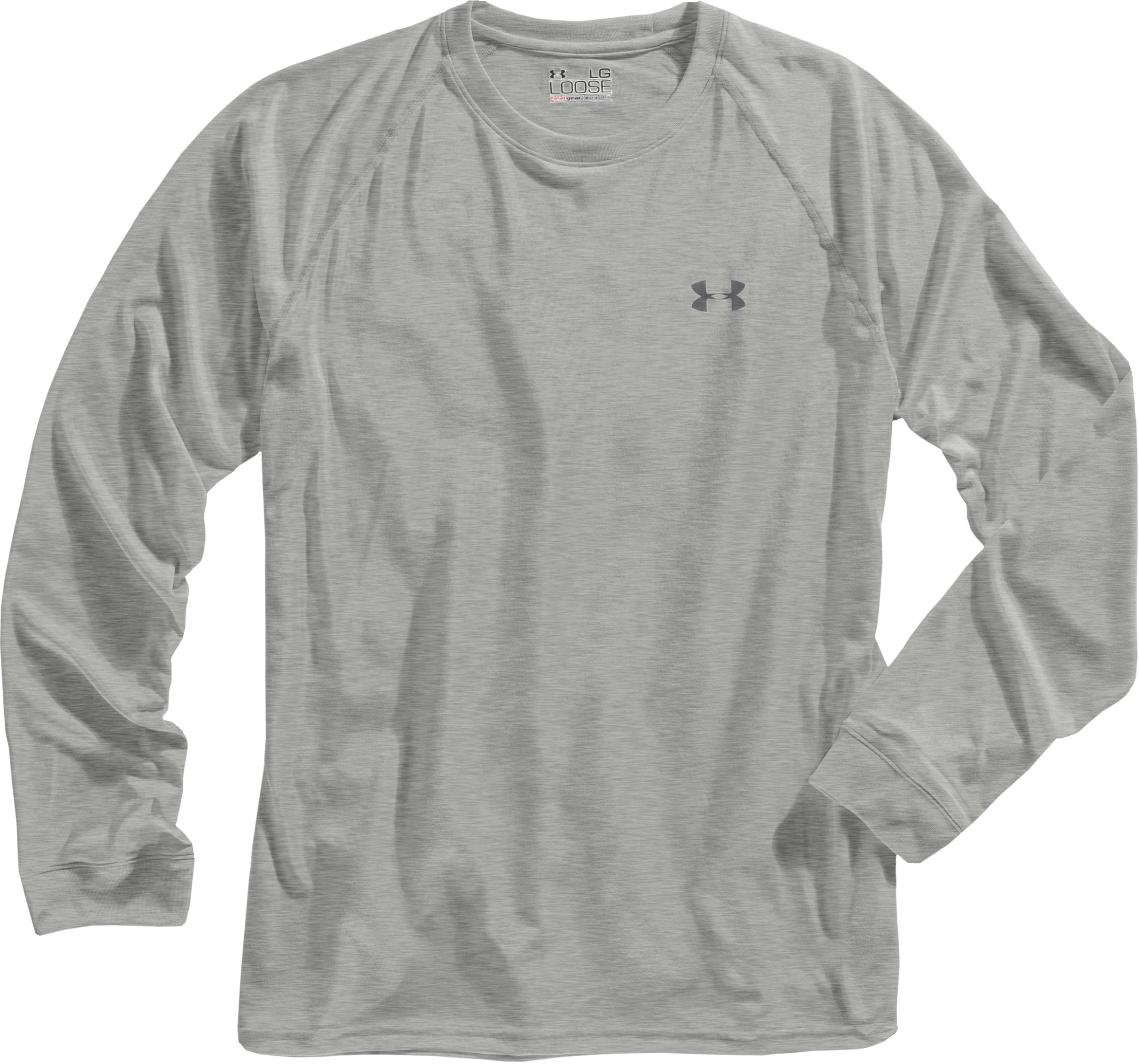 Men's UA Tech™ Long Sleeve T-Shirt, Silver Heather, Laydown
