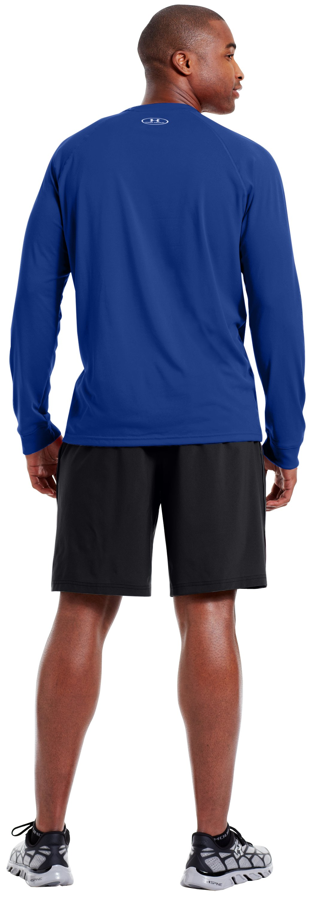 Men's UA Tech™ Long Sleeve T-Shirt, Royal, Back