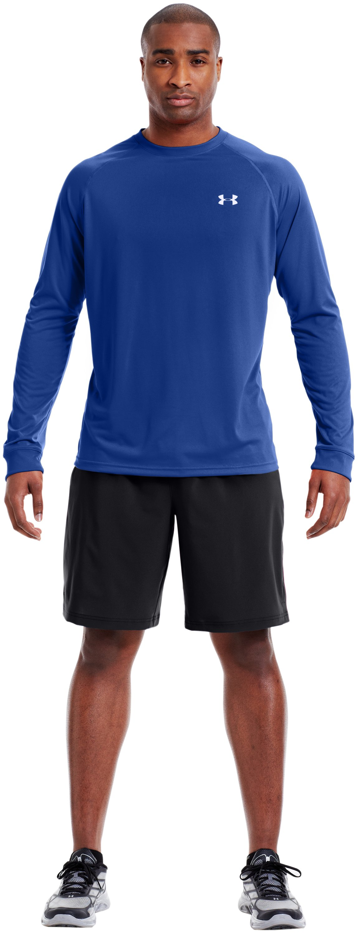 Men's UA Tech™ Long Sleeve T-Shirt, Royal, Front