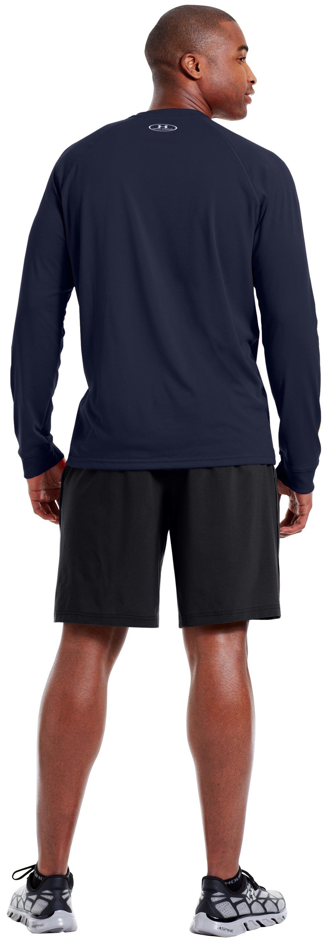 Men's UA Tech™ Long Sleeve T-Shirt, Midnight Navy, Back