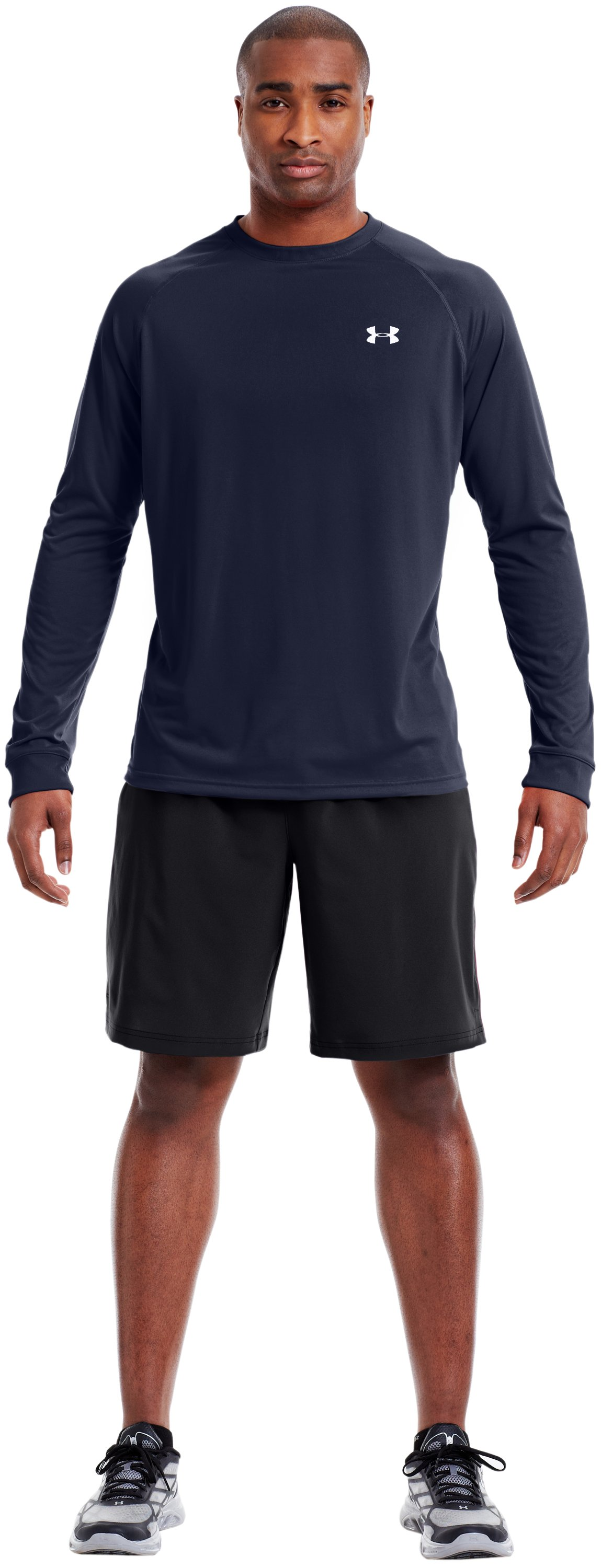 Men's UA Tech™ Long Sleeve T-Shirt, Midnight Navy, Front