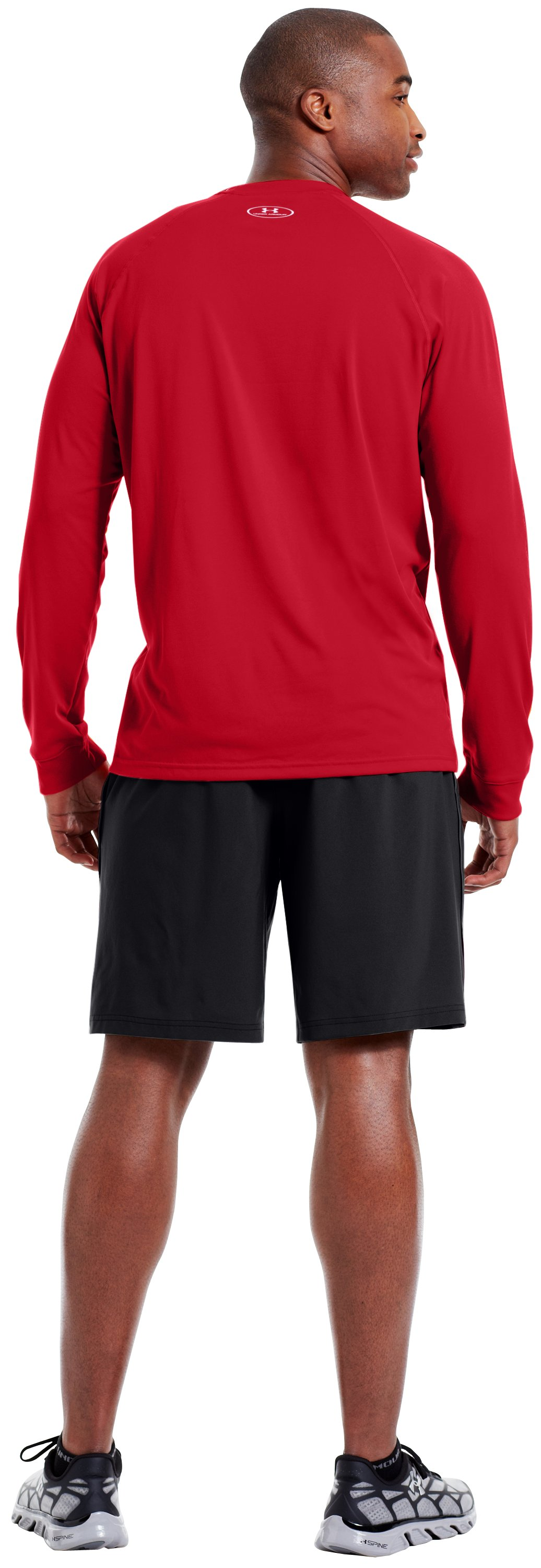 Men's UA Tech™ Long Sleeve T-Shirt, Red, Back