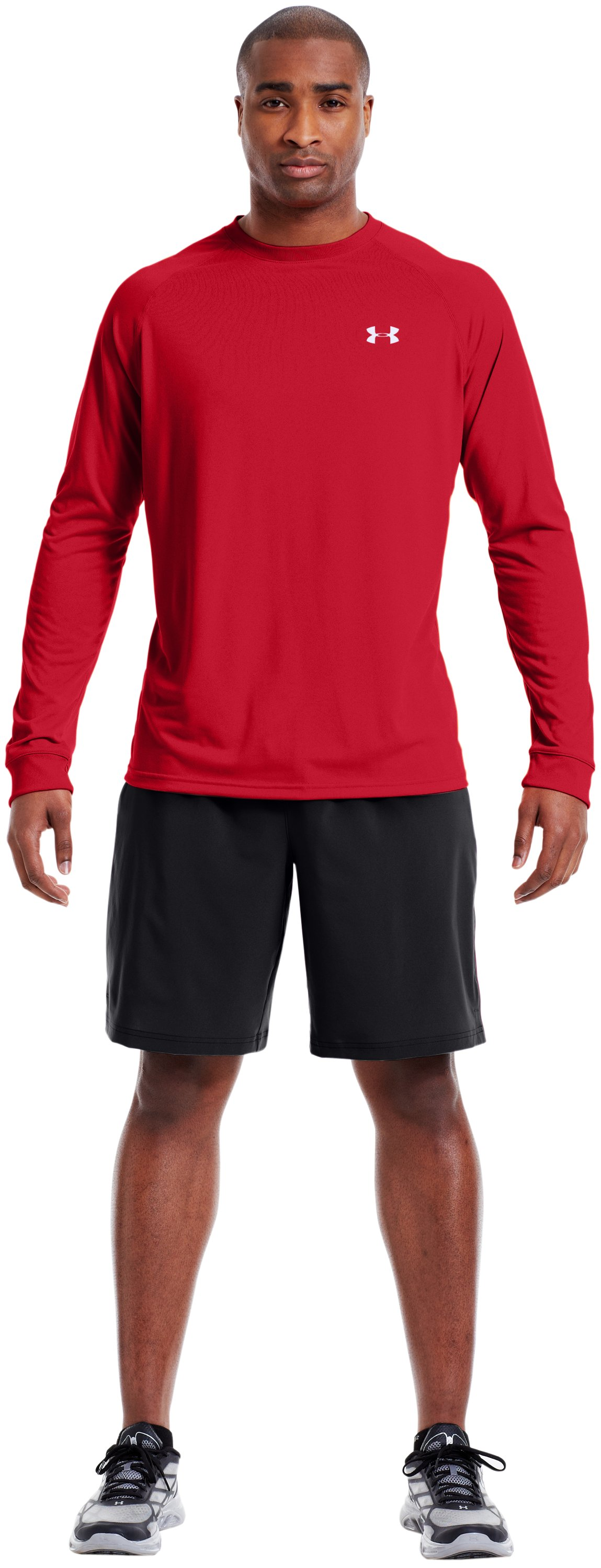 Men's UA Tech™ Long Sleeve T-Shirt, Red, Front