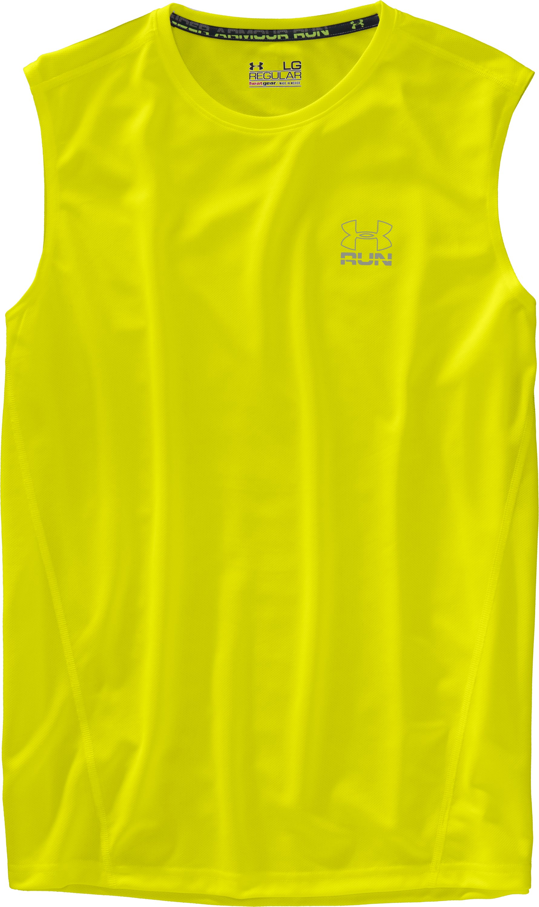 Men's UA Run HeatGear® Sleeveless T-Shirt, High-Vis Yellow
