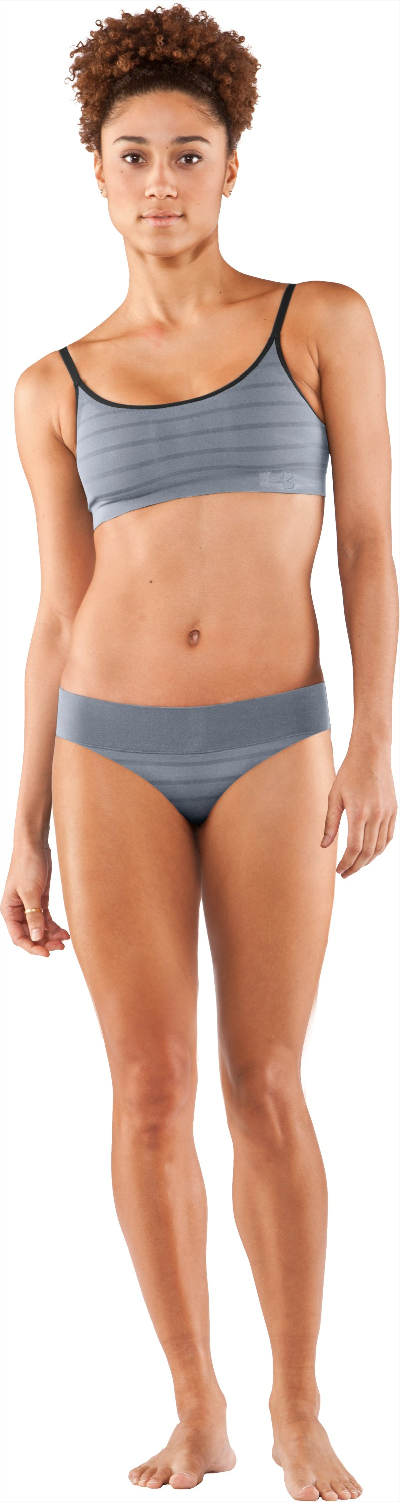 Women's UA Seamless Thong, Steel, zoomed image