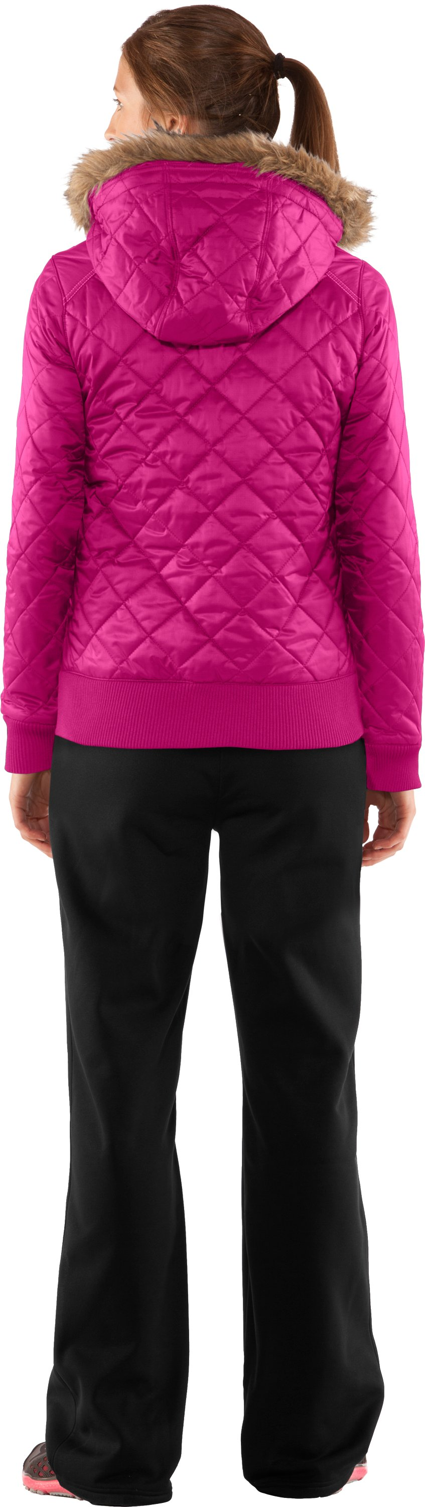 Women's UA Eielson Bomber, Honeysuckle, Back