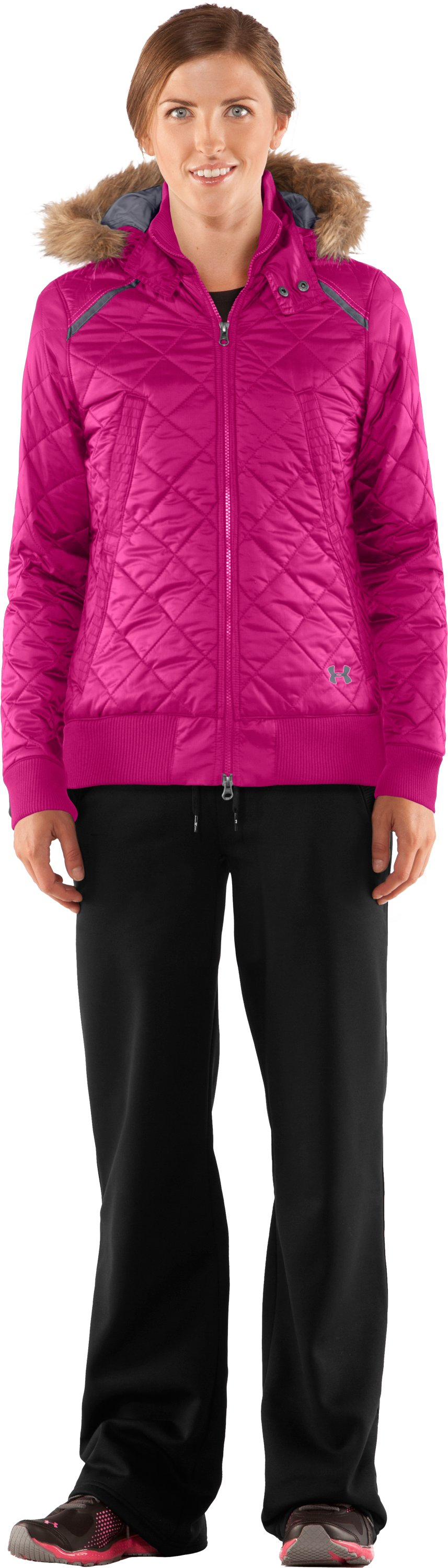 Women's UA Eielson Bomber, Honeysuckle, Front