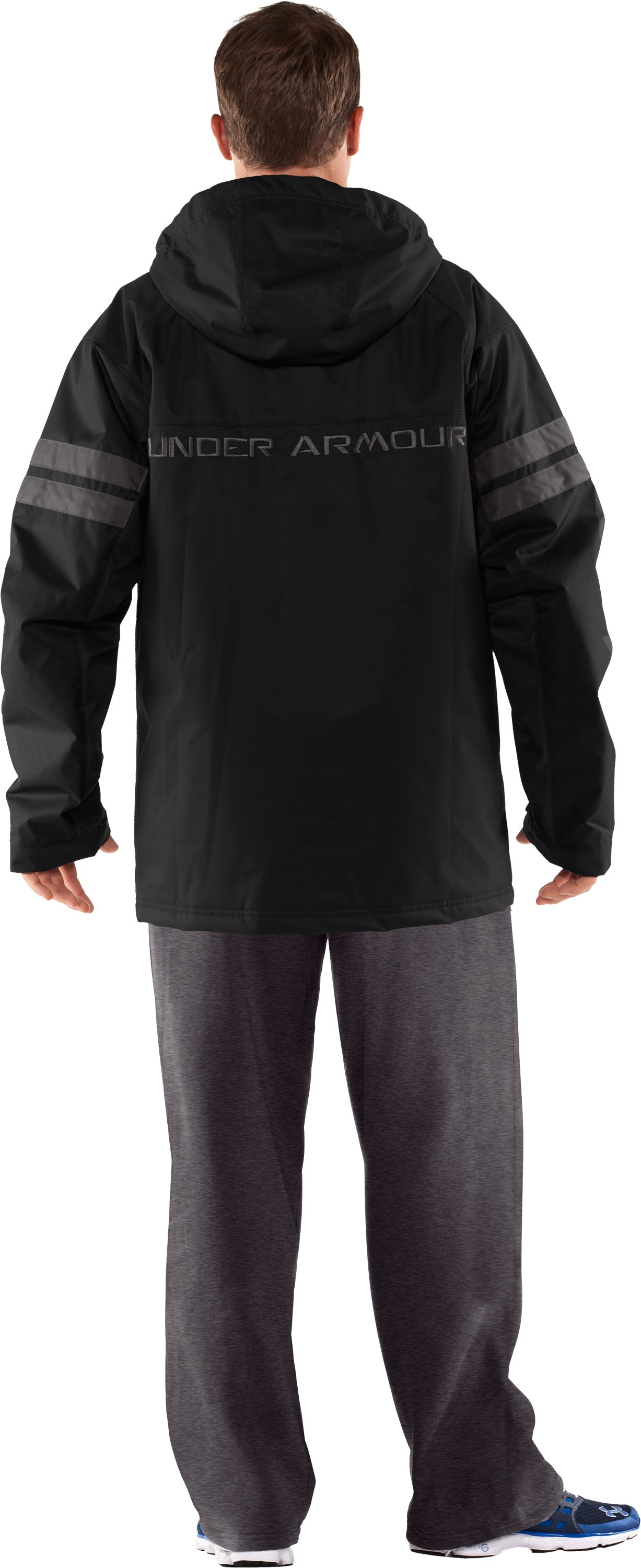 Men's UA Universe Storm 3-in-1 Jacket, Black , Back