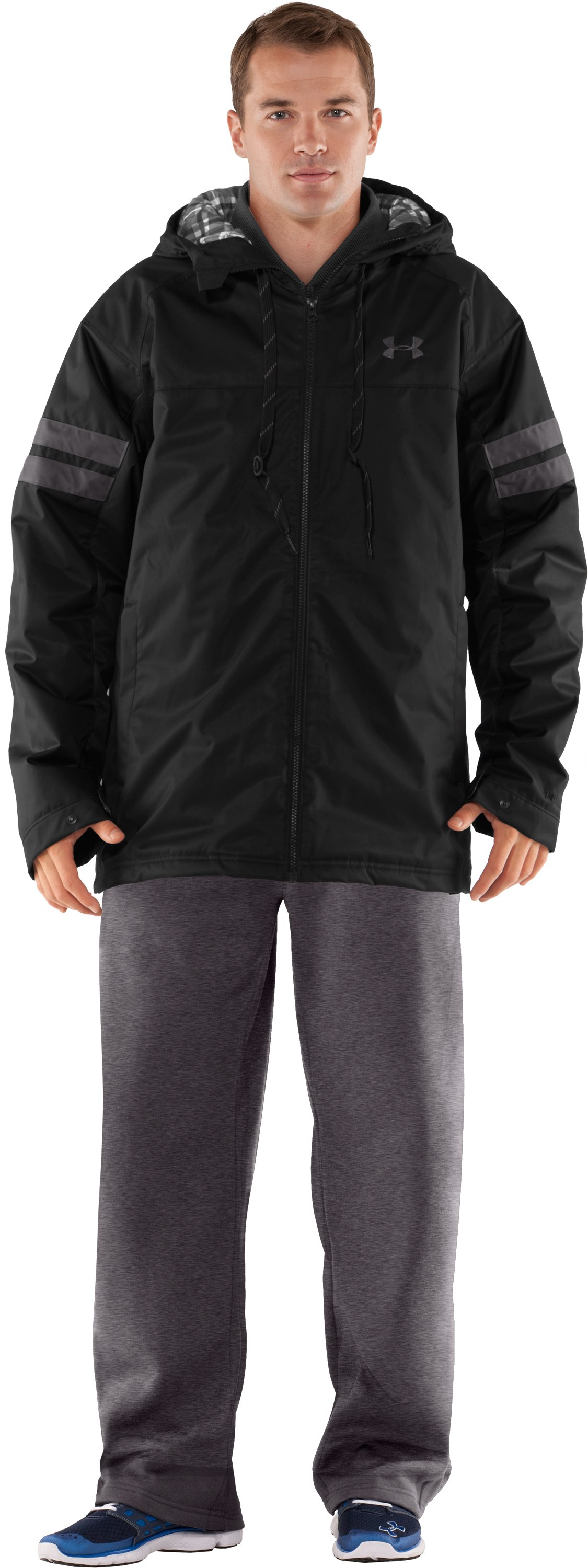 Men's UA Universe Storm 3-in-1 Jacket, Black , Front
