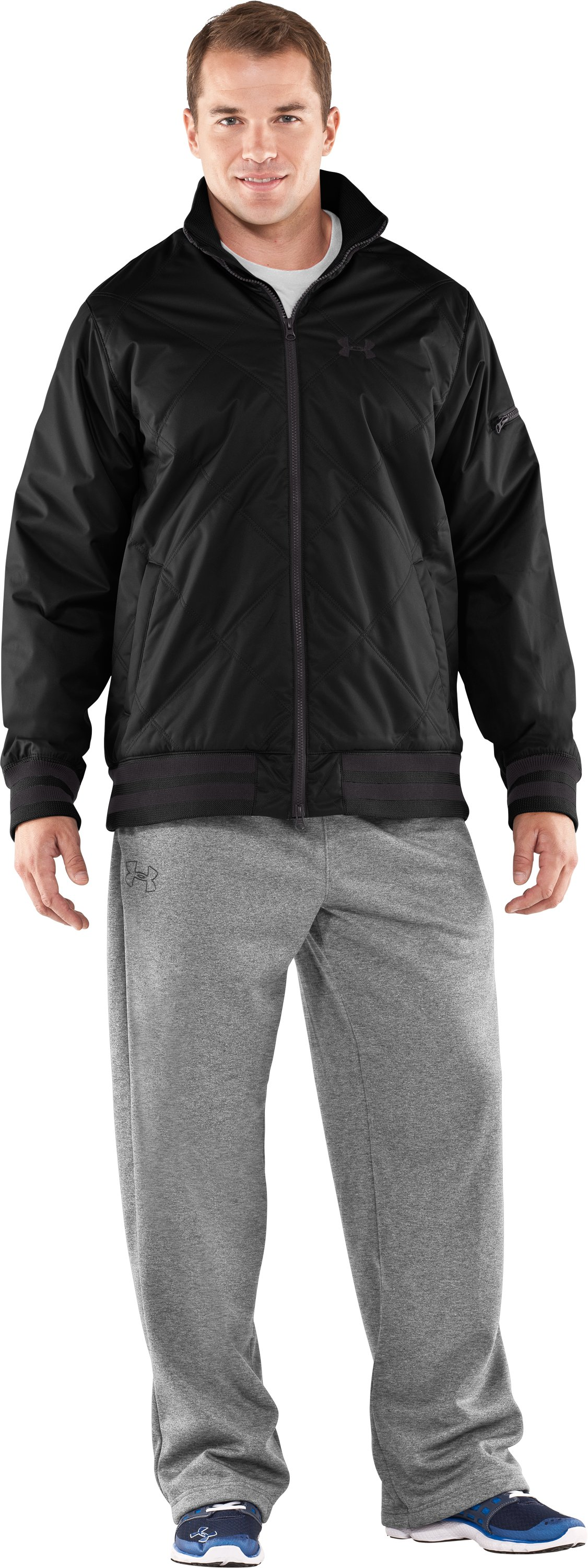 Men's UA Focus Storm Jacket, Black , zoomed image