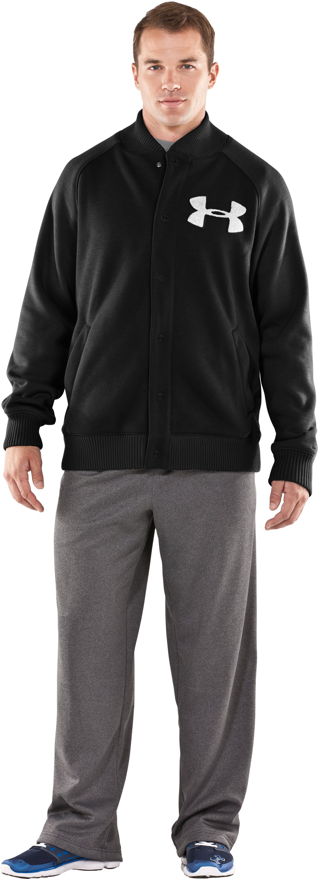 Men's UA Rally Storm Jacket, Black , Front