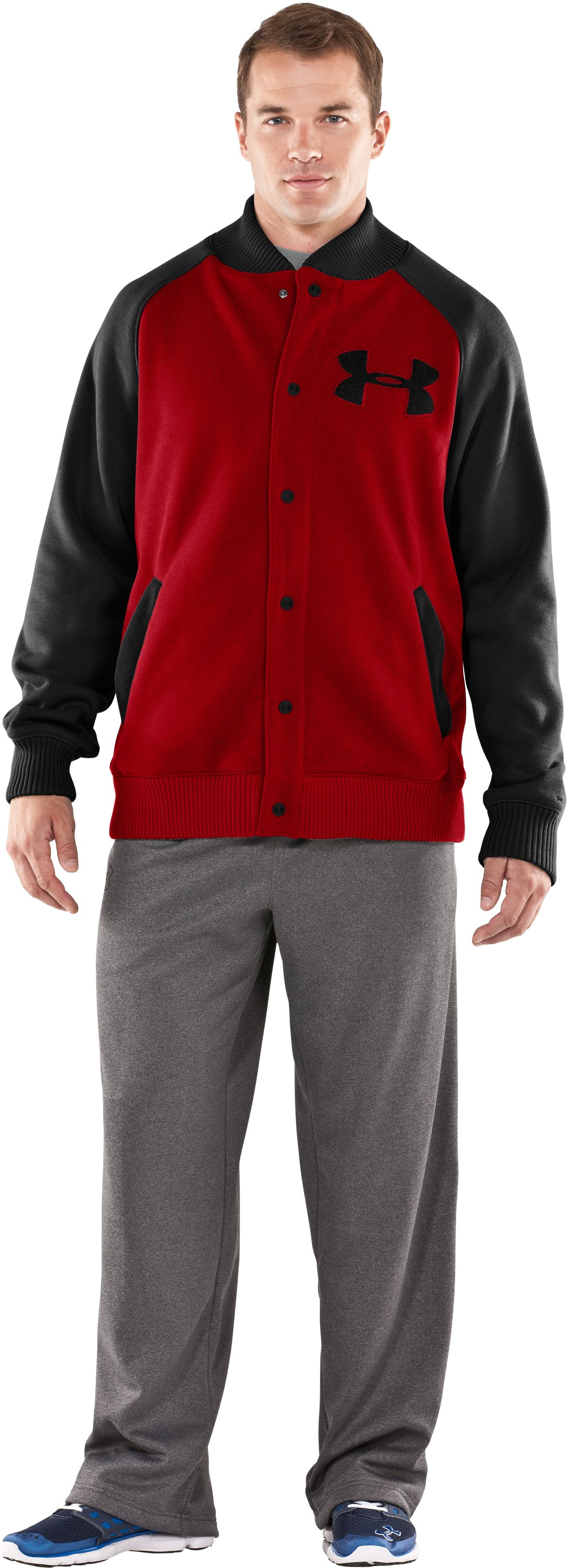 Men's UA Rally Storm Jacket, Red, Front