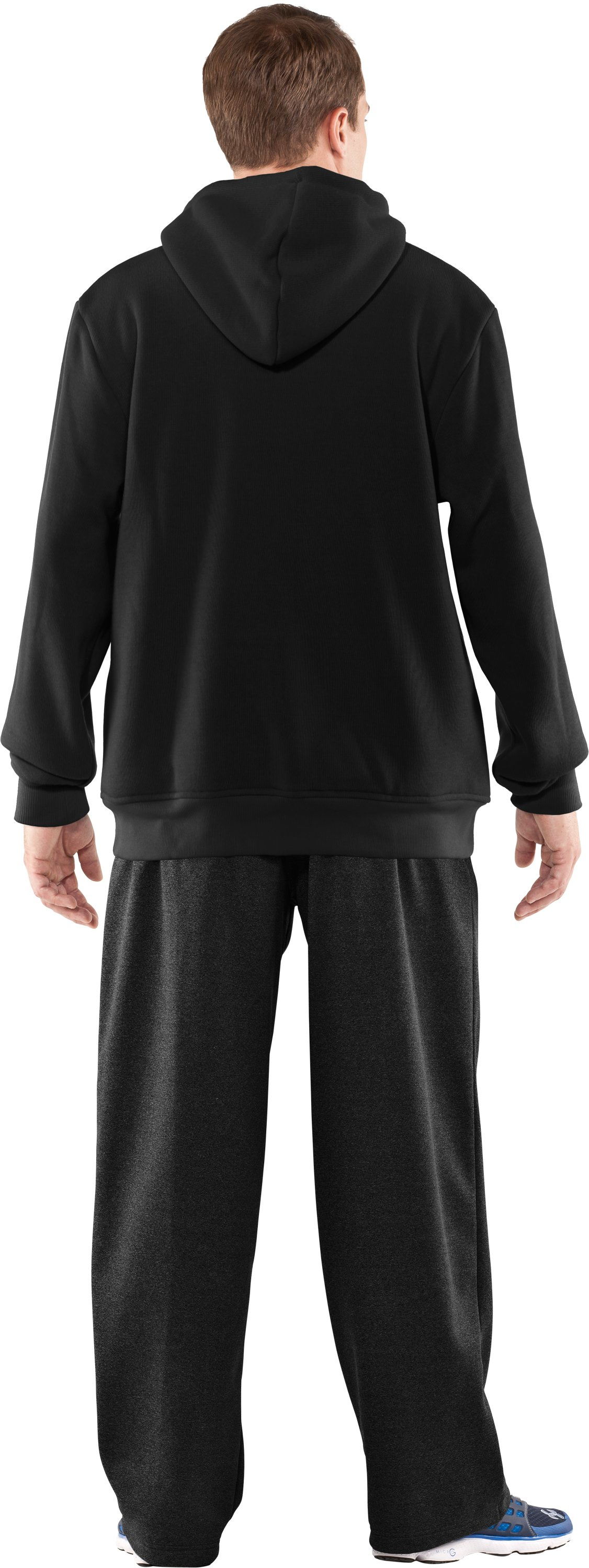 Men's UA Rally Storm Hoodie, Black , Back