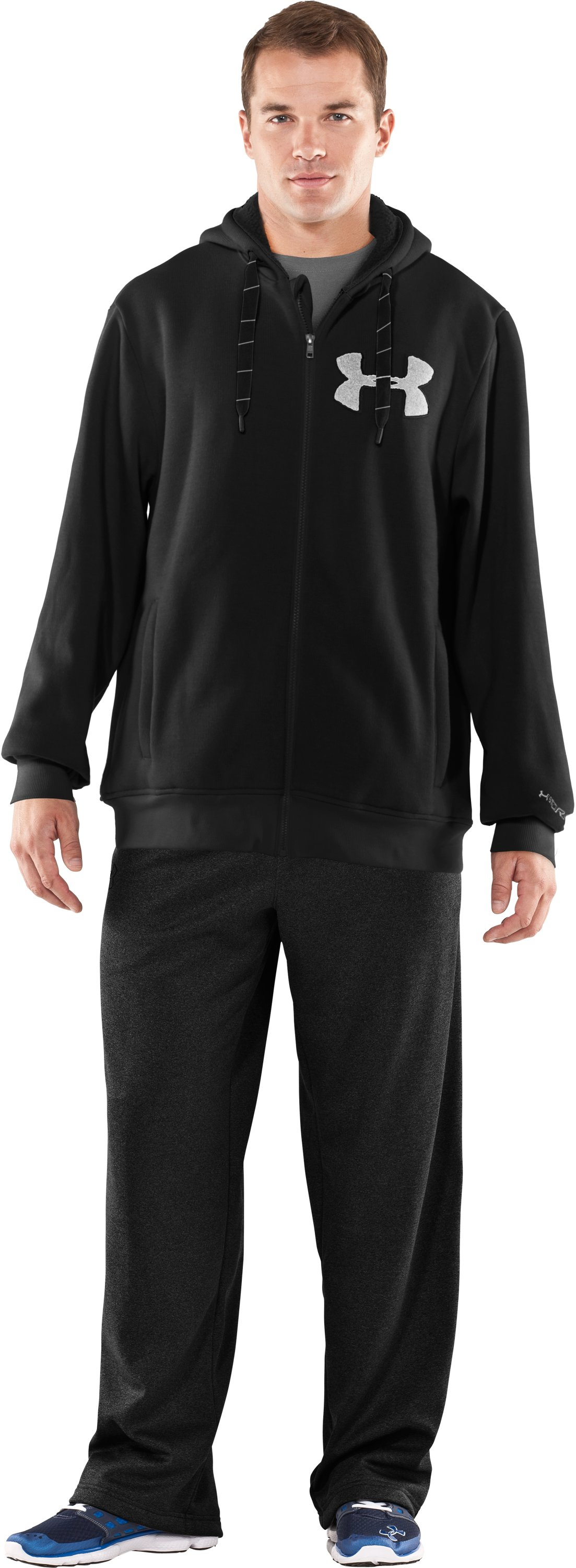 Men's UA Rally Storm Hoodie, Black , Front