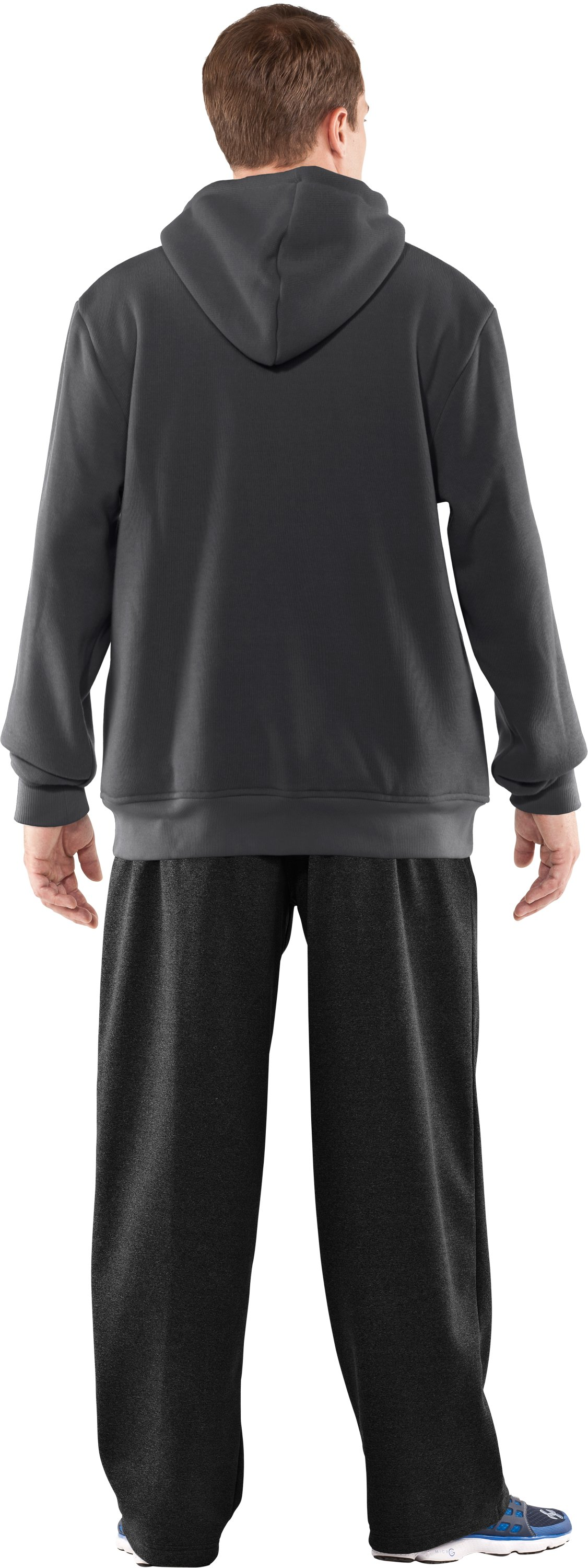 Men's UA Rally Storm Hoodie, Graphite, Back
