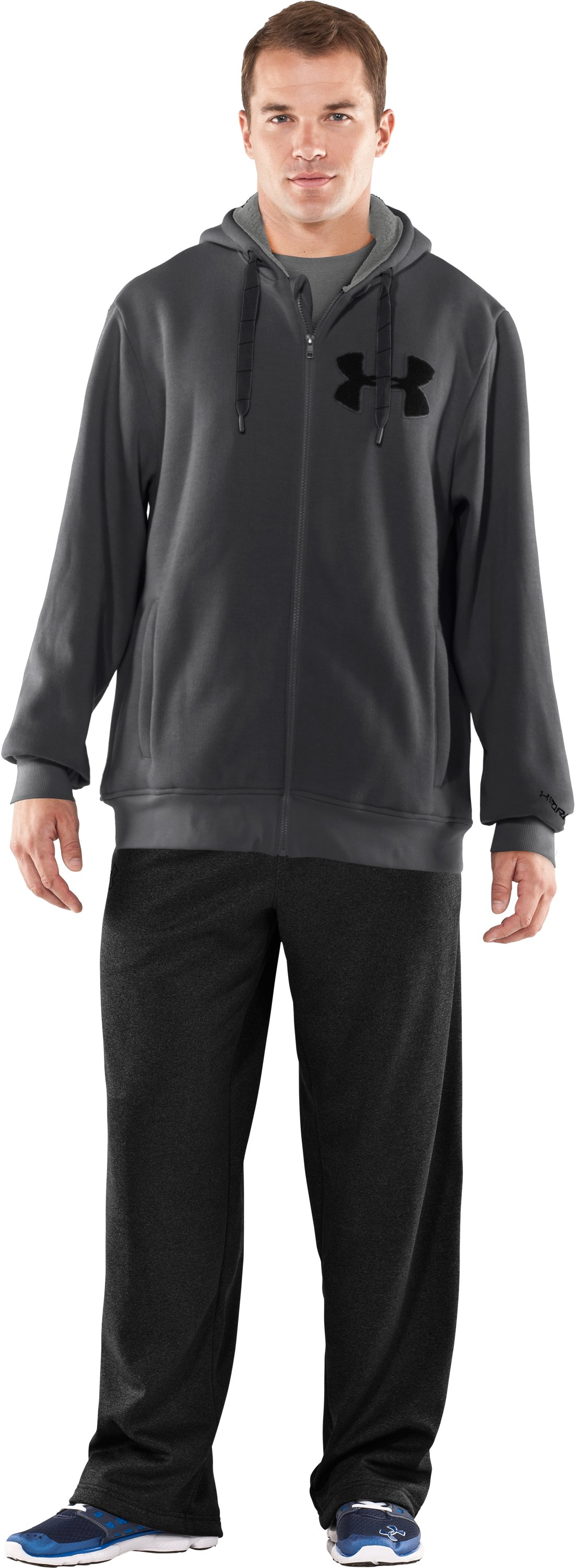 Men's UA Rally Storm Hoodie, Graphite, Front