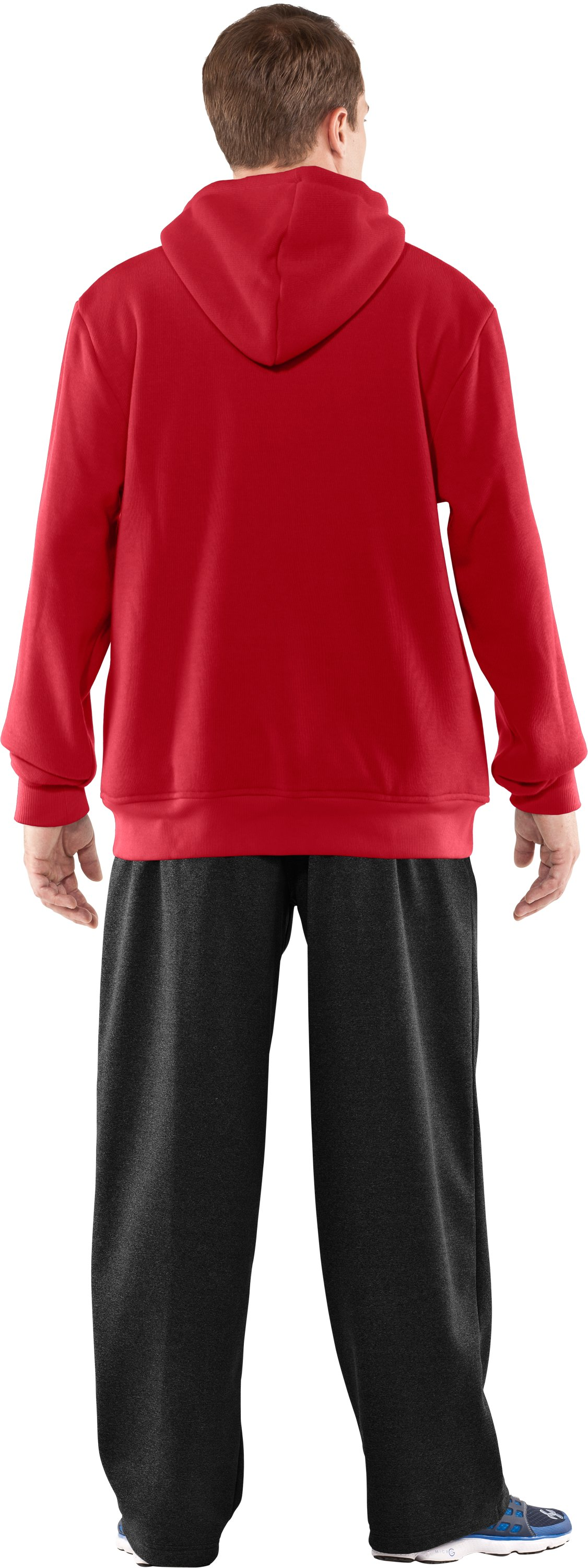Men's UA Rally Storm Hoodie, Red, Back