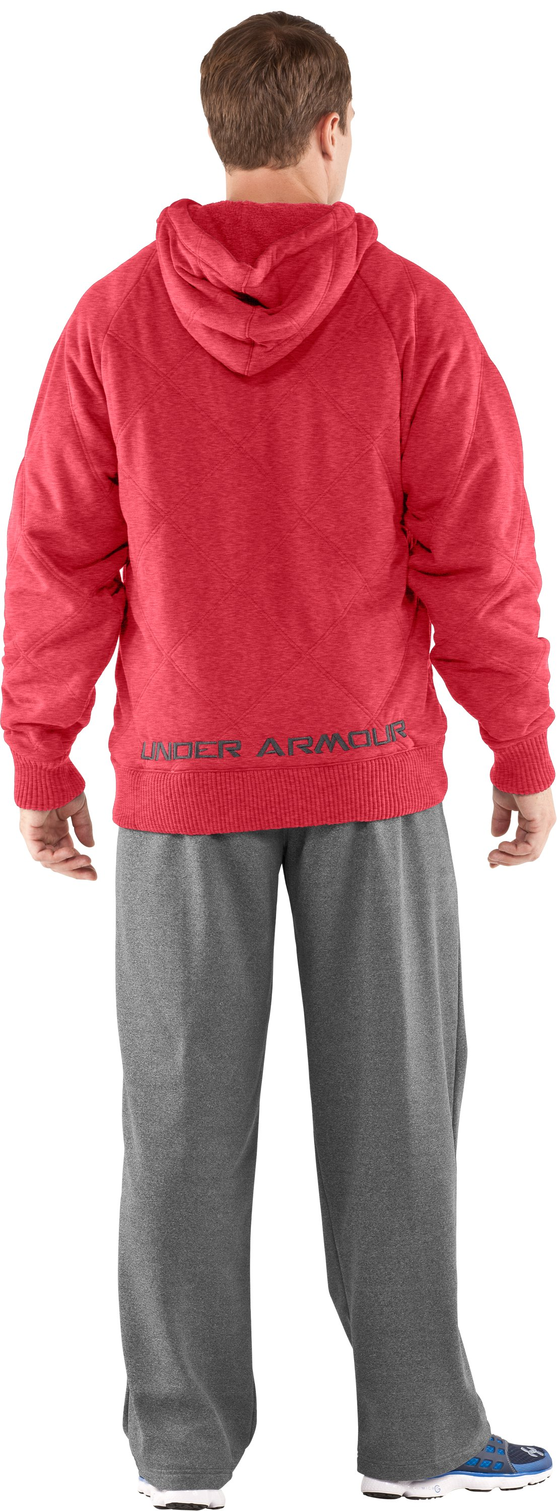 Men's UA Quilted Storm Hoodie, Red, Back