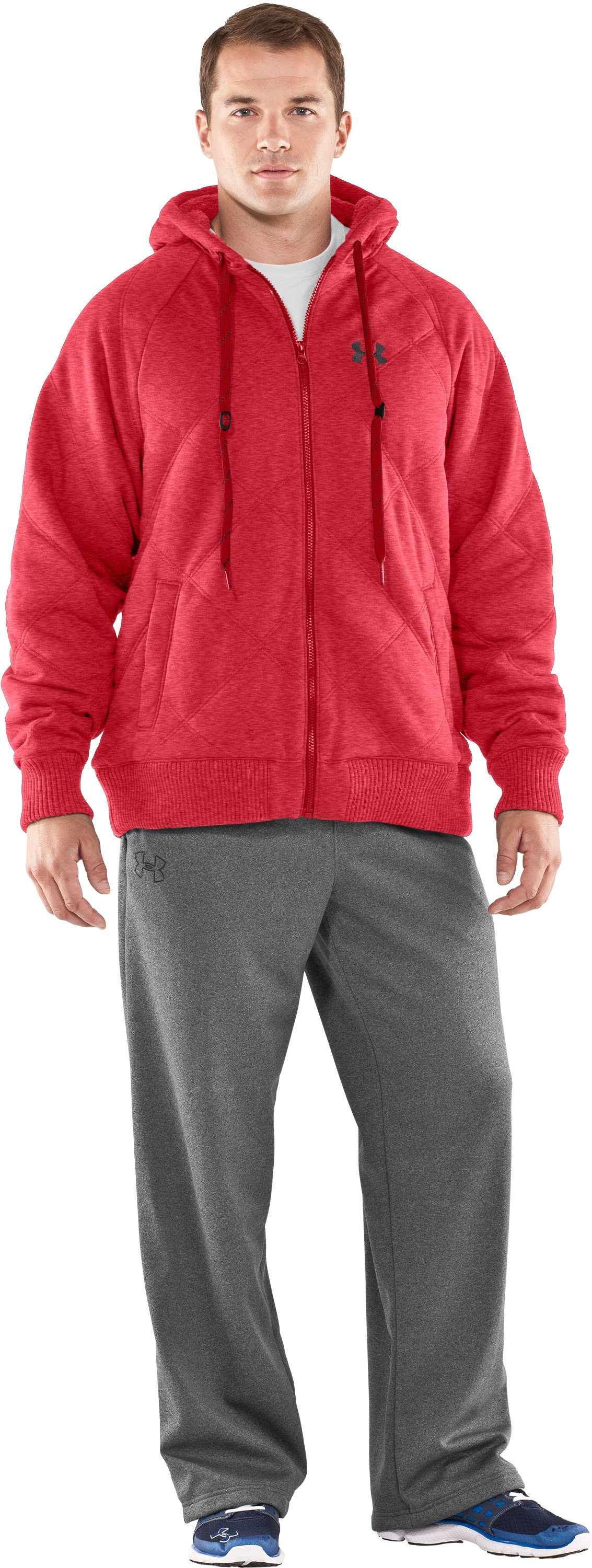Men's UA Quilted Storm Hoodie, Red, Front