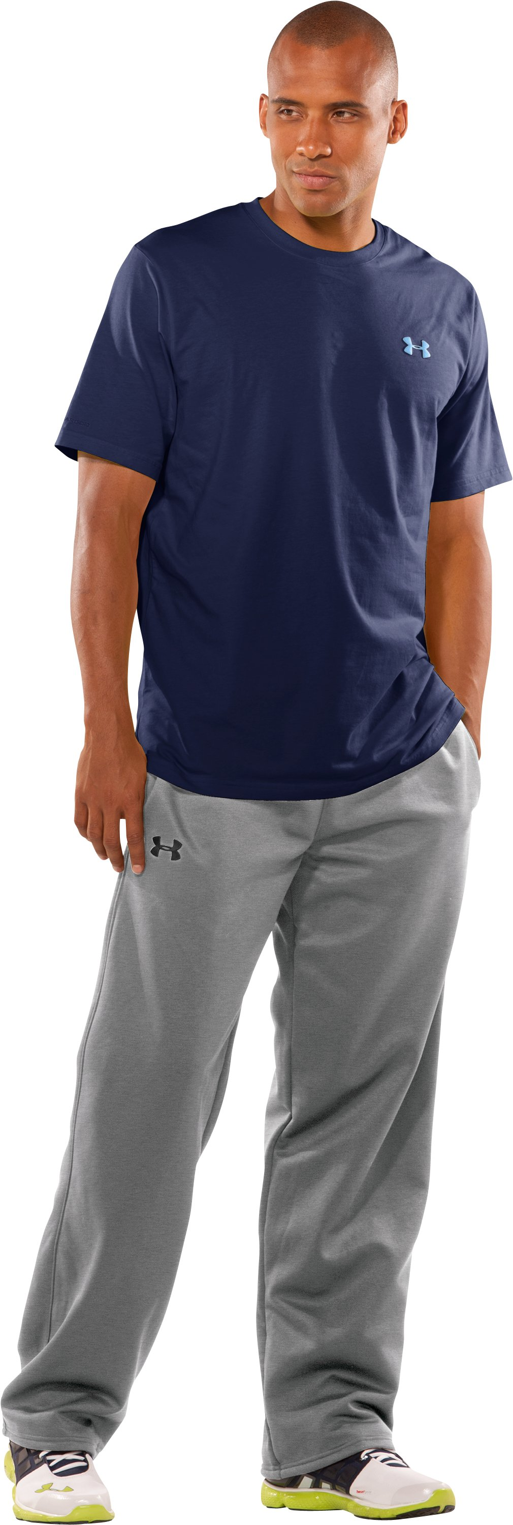 Men's Armour® Fleece Performance Pants Tall, True Gray Heather, zoomed image