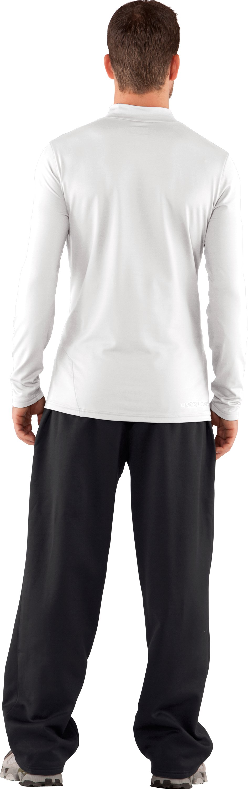 Men's UA EVO ColdGear® Fitted Mock Tall, White, Back