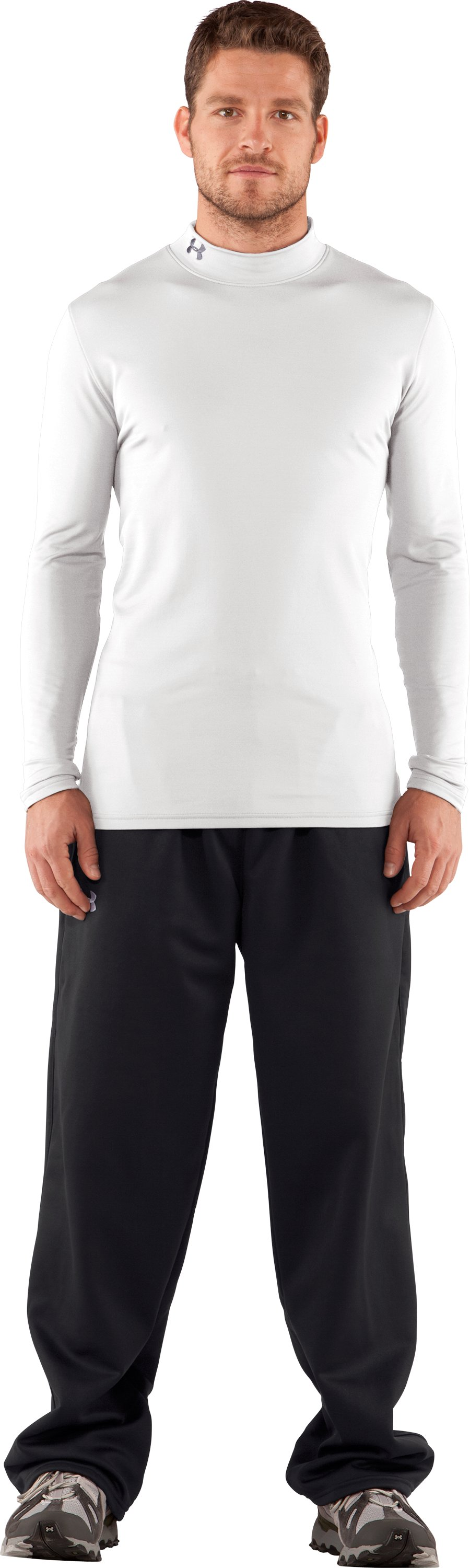 Men's UA EVO ColdGear® Fitted Mock Tall, White, zoomed image