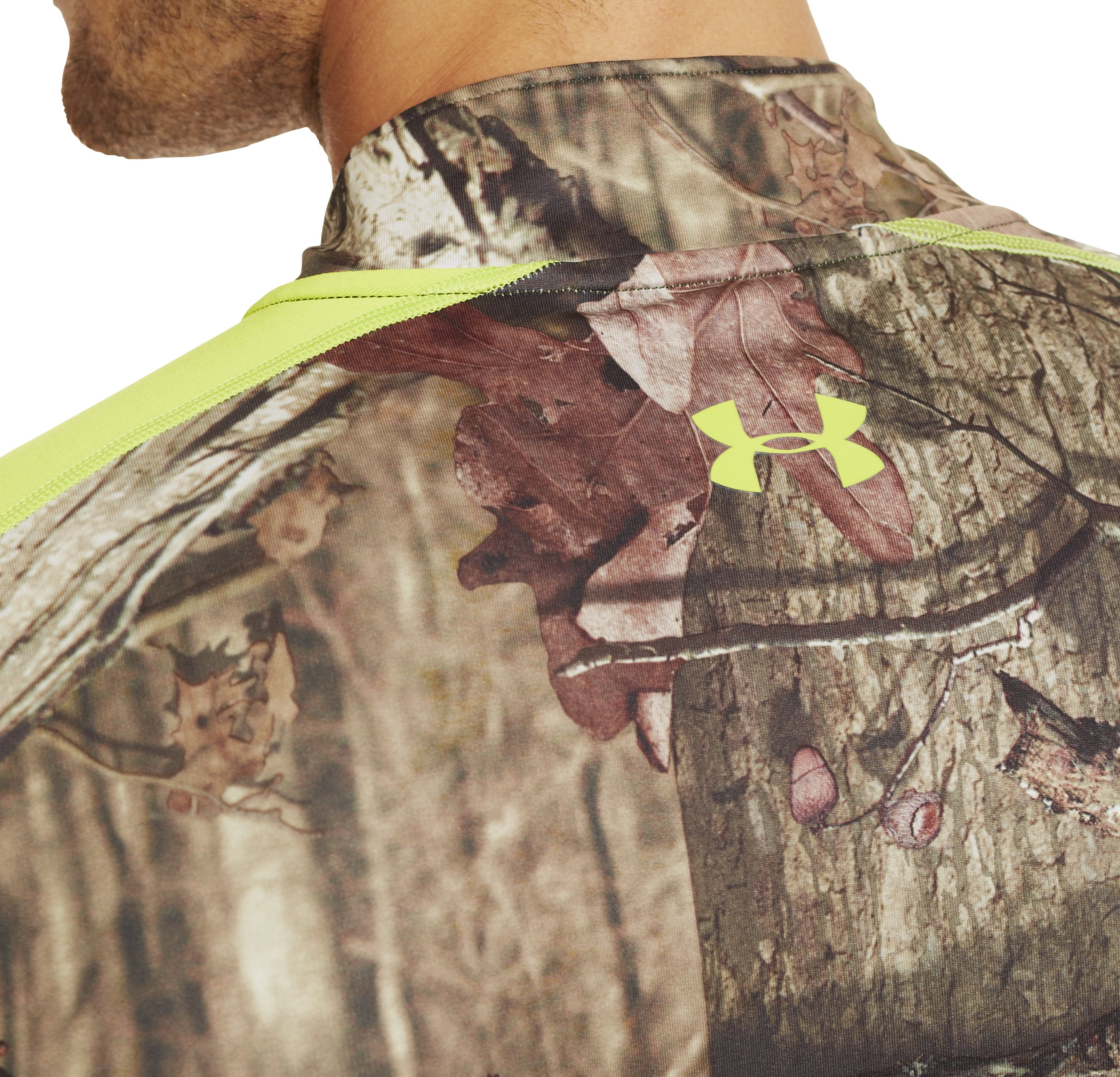 Men's ColdGear® Evo Scent Control Fitted ¼ Zip, REALTREE AP-XTRA, undefined
