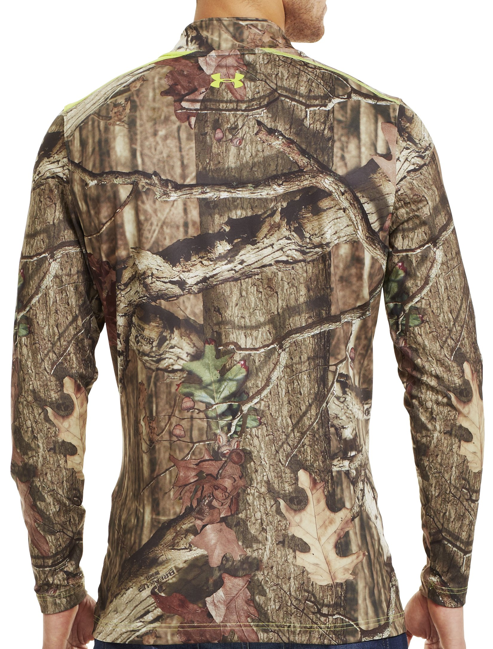 Men's ColdGear® Evo Scent Control Fitted ¼ Zip, Mossy Oak Break-Up Infinity, Back
