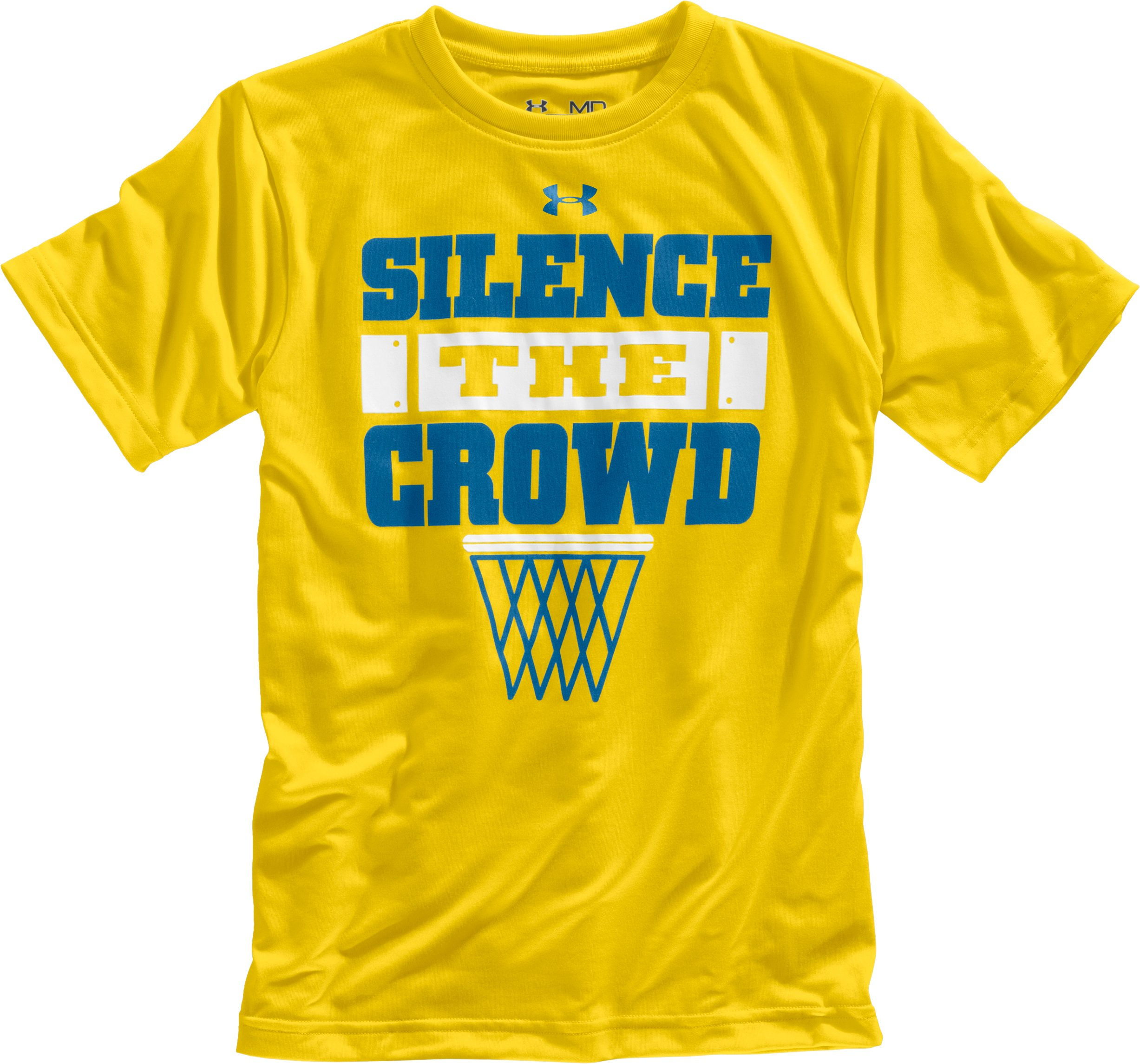 Boys' UA Silence The Crowd Graphic T-Shirt, Taxi, Laydown